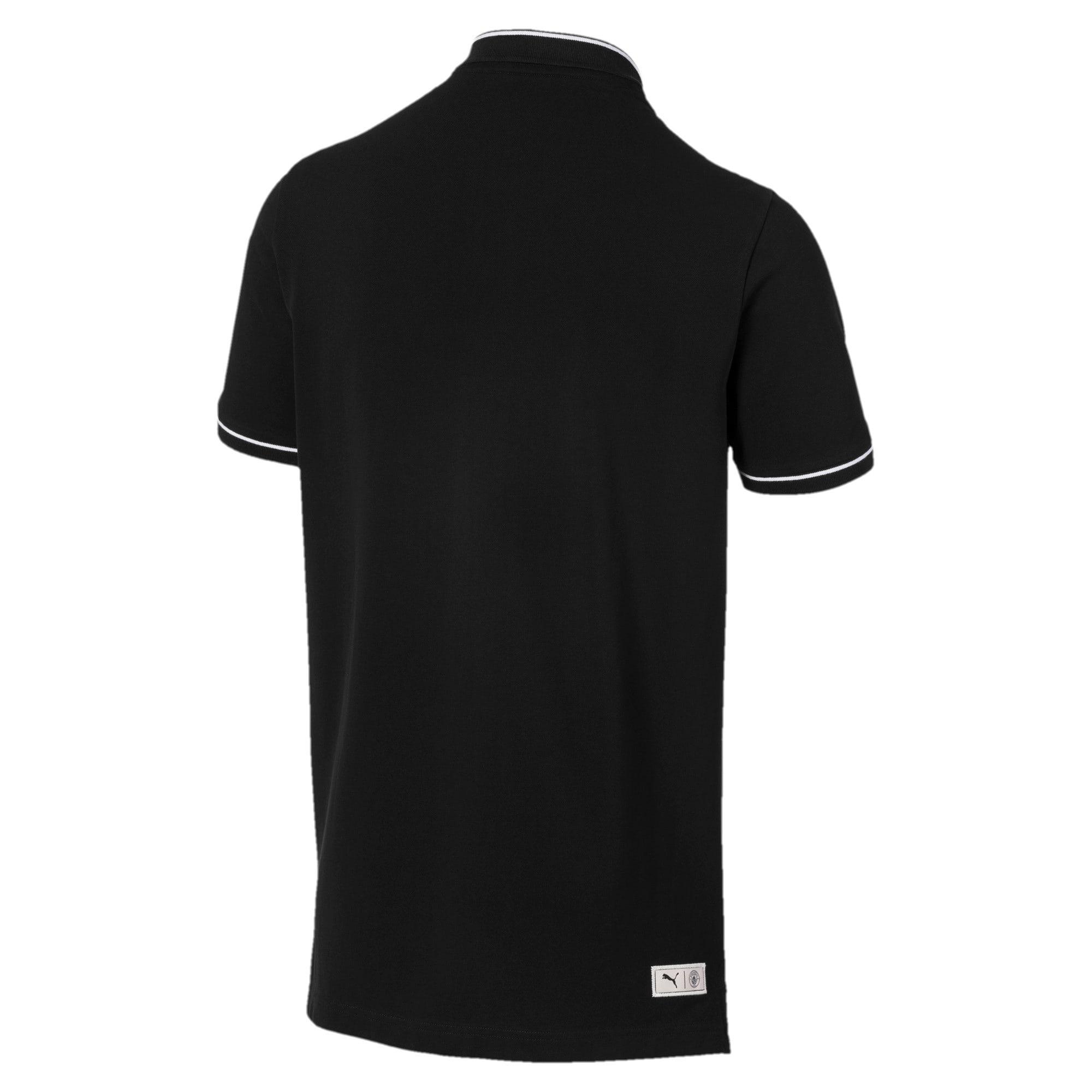 Miniatura 5 de Camiseta tipo polo Manchester City FC Premium para hombre, Puma Black-team light blue, mediano
