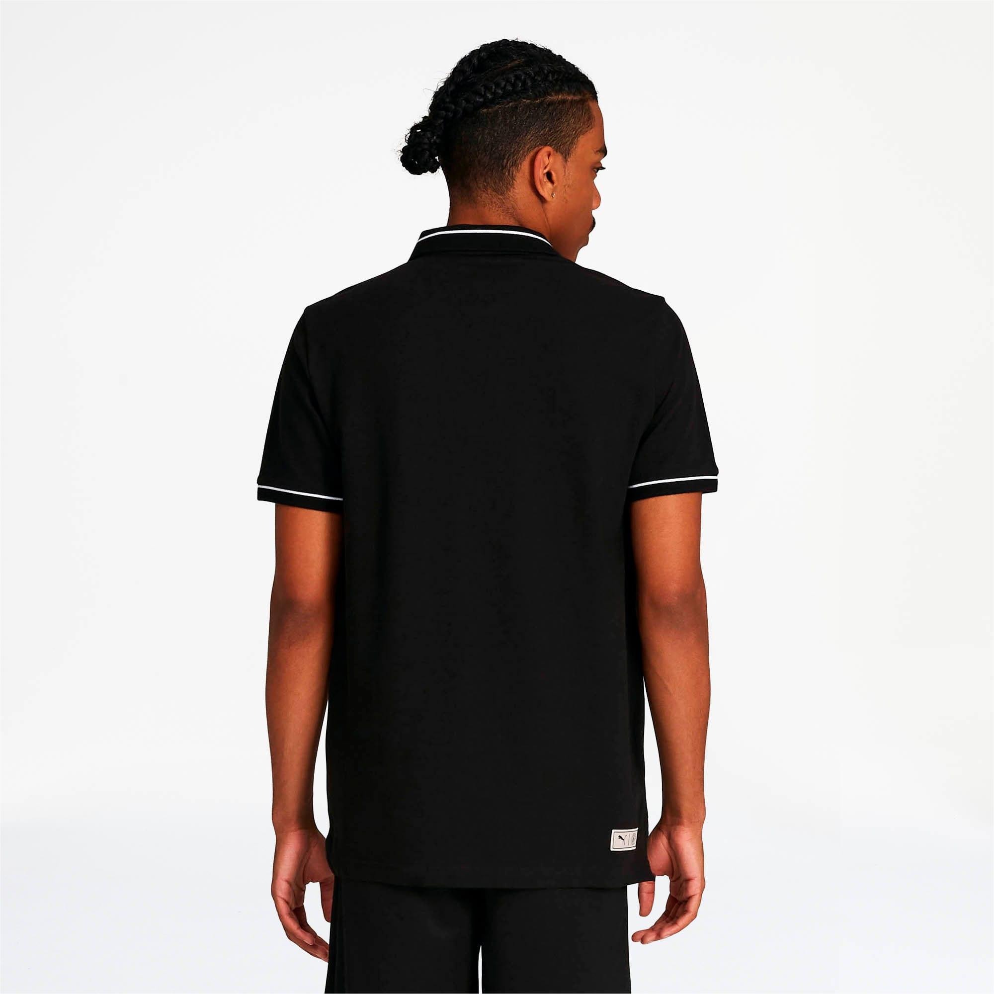 Miniatura 2 de Camiseta tipo polo Manchester City FC Premium para hombre, Puma Black-team light blue, mediano