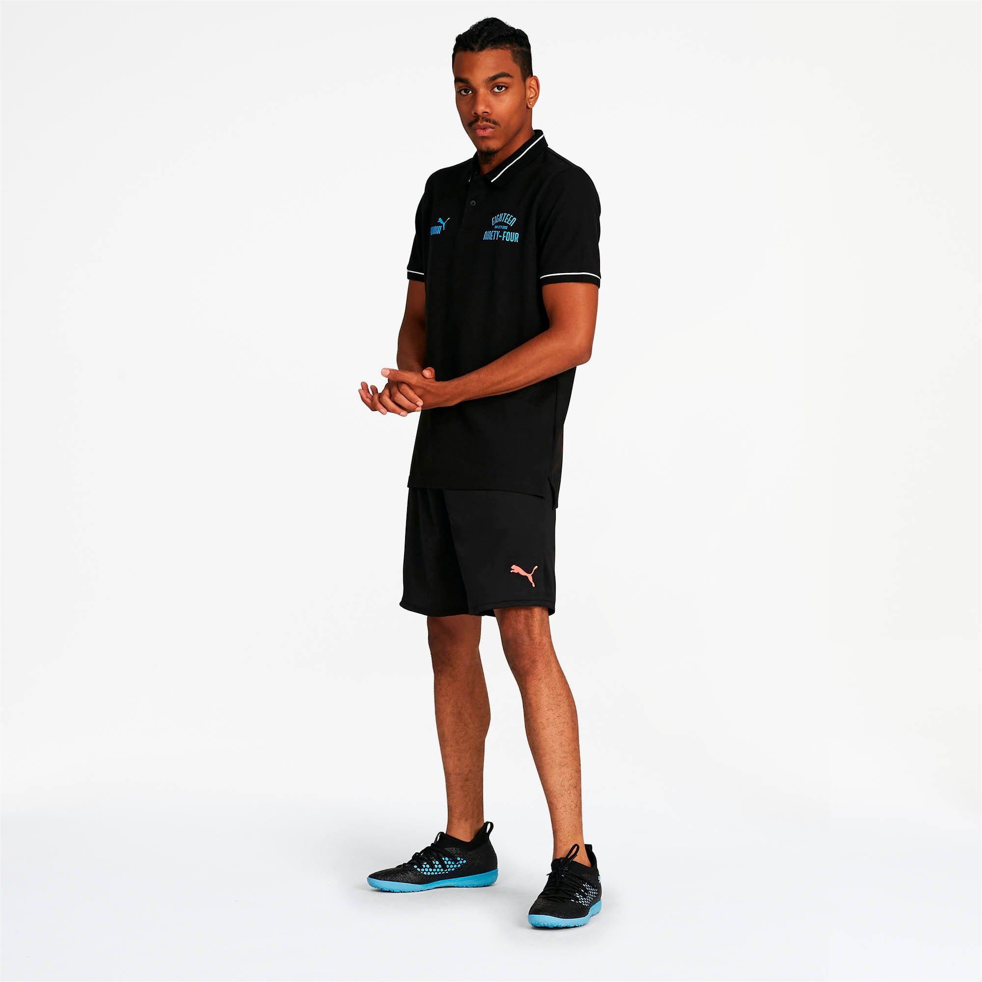 Miniatura 3 de Camiseta tipo polo Manchester City FC Premium para hombre, Puma Black-team light blue, mediano