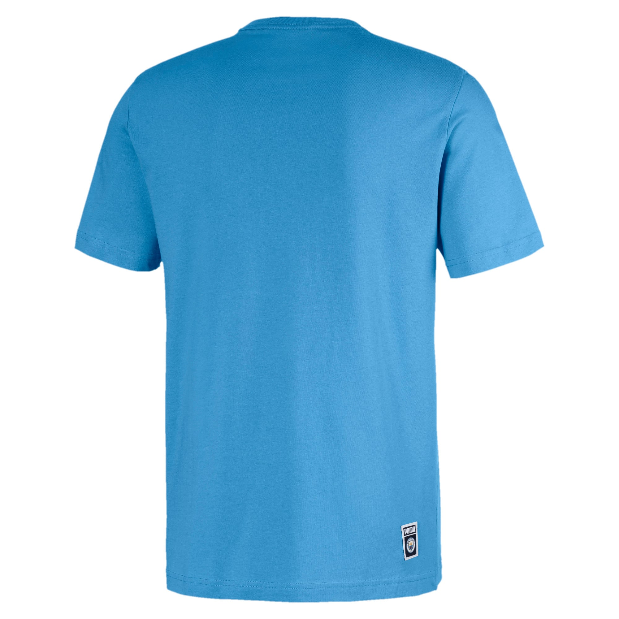 Thumbnail 2 of Essentials Short Sleeve Men's Tee, Team Light Blue-Puma white, medium