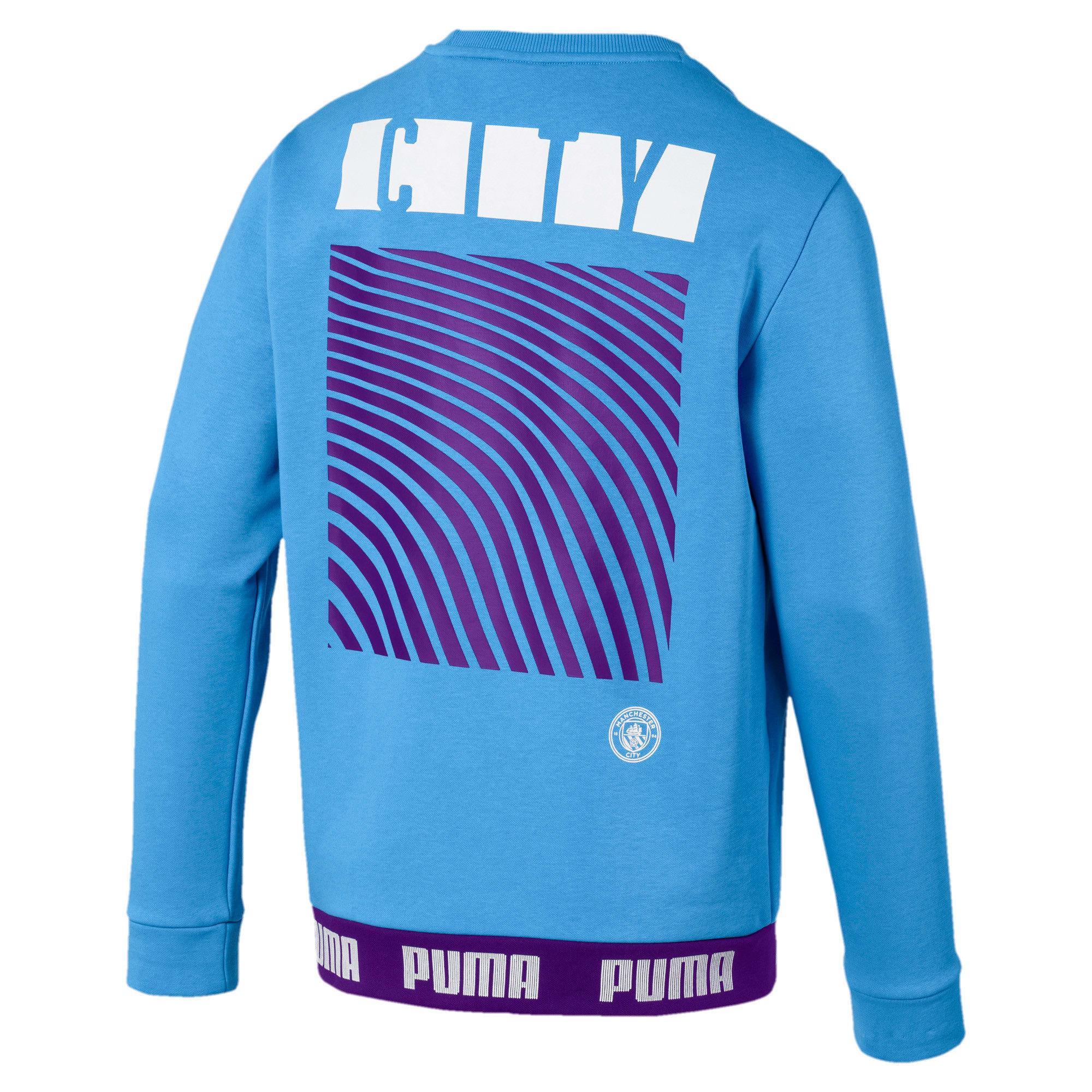 Thumbnail 5 of Manchester City FC FtblCulture Men's Sweatshirt, Team Light Blue-Puma White, medium