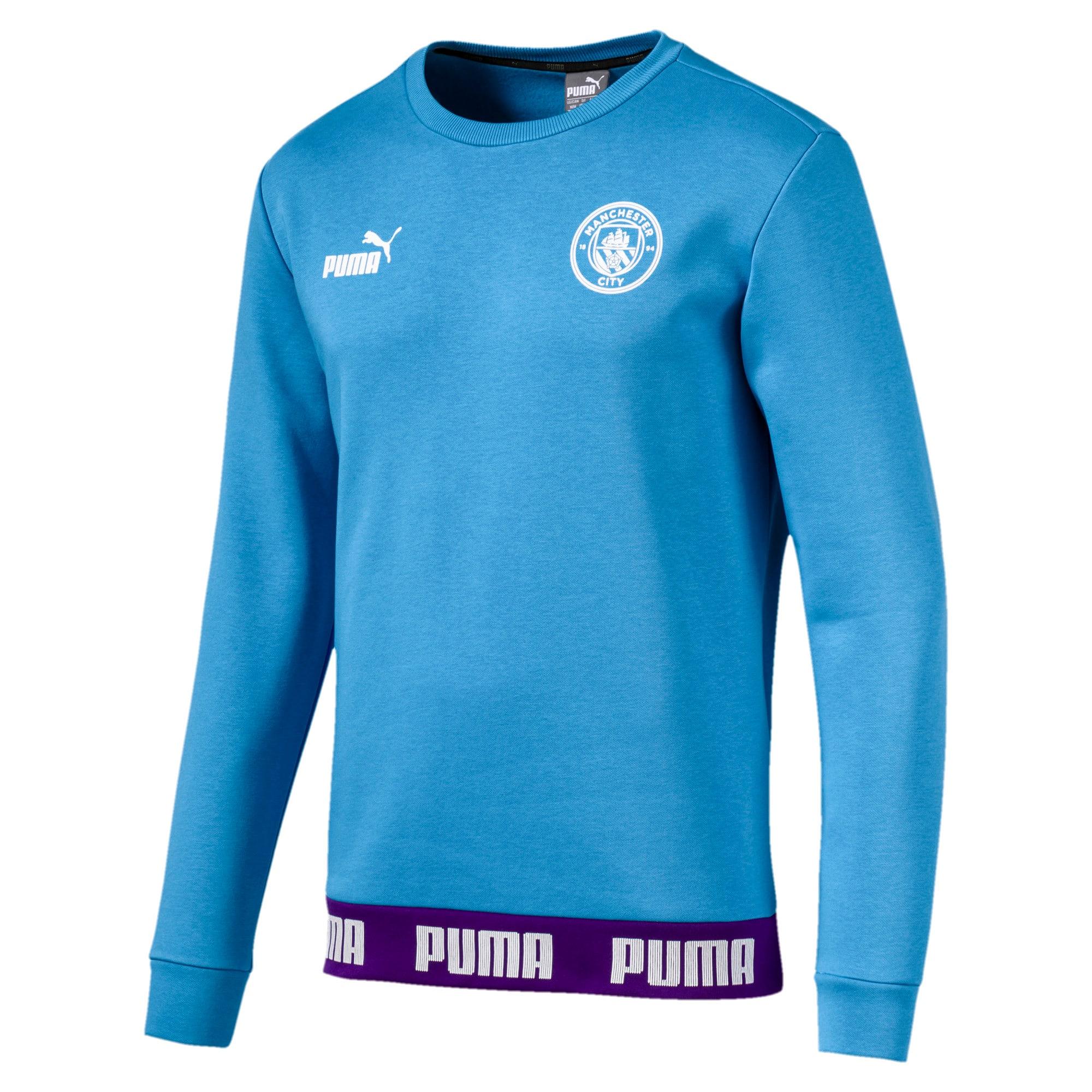 Thumbnail 4 of Manchester City FC FtblCulture Men's Sweatshirt, Team Light Blue-Puma White, medium