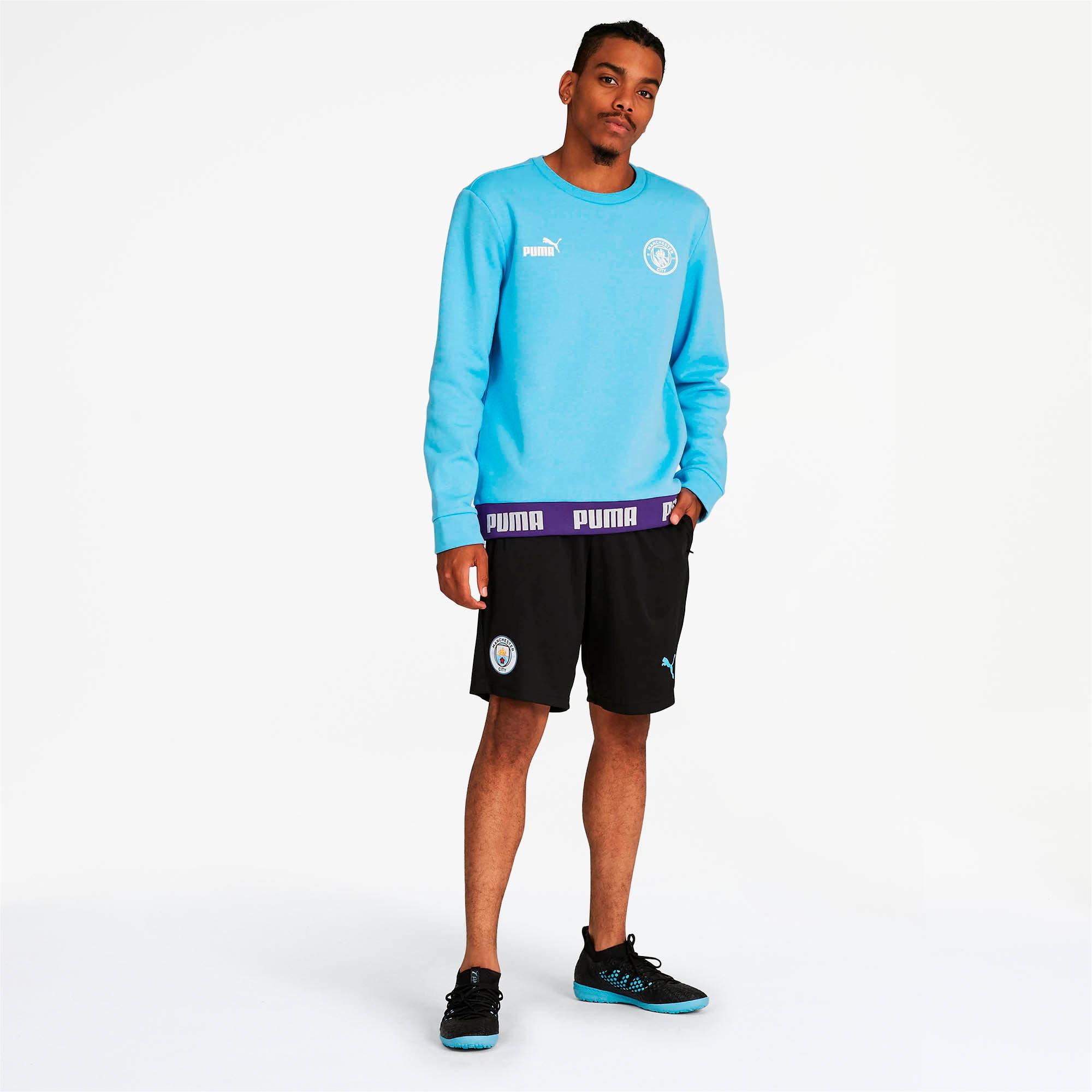 Thumbnail 3 of Manchester City FC FtblCulture Men's Sweatshirt, Team Light Blue-Puma White, medium