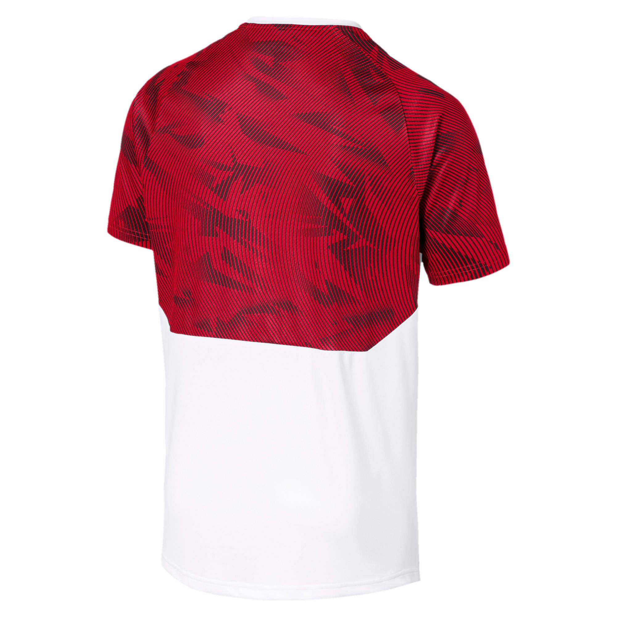 Thumbnail 5 of AC Milan Short Sleeve Men's Training Jersey, Puma White-Tango Red, medium