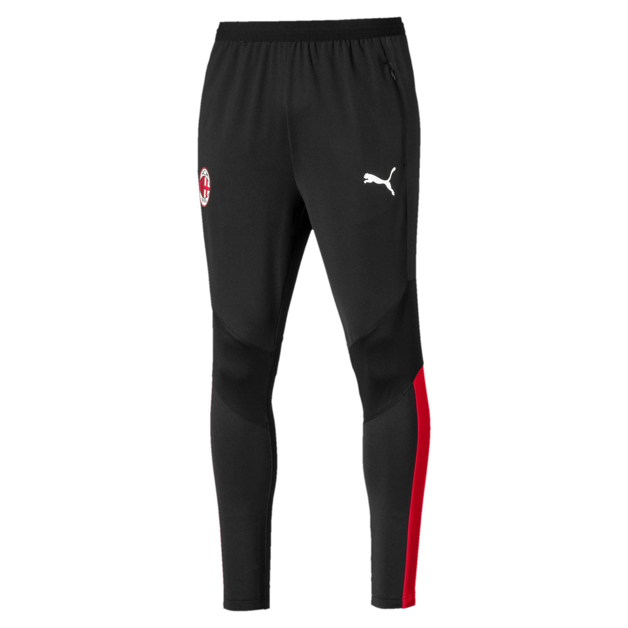Thumbnail 4 of AC Milan Pro Herren Trainingshose, Puma Black-Tango Red, medium