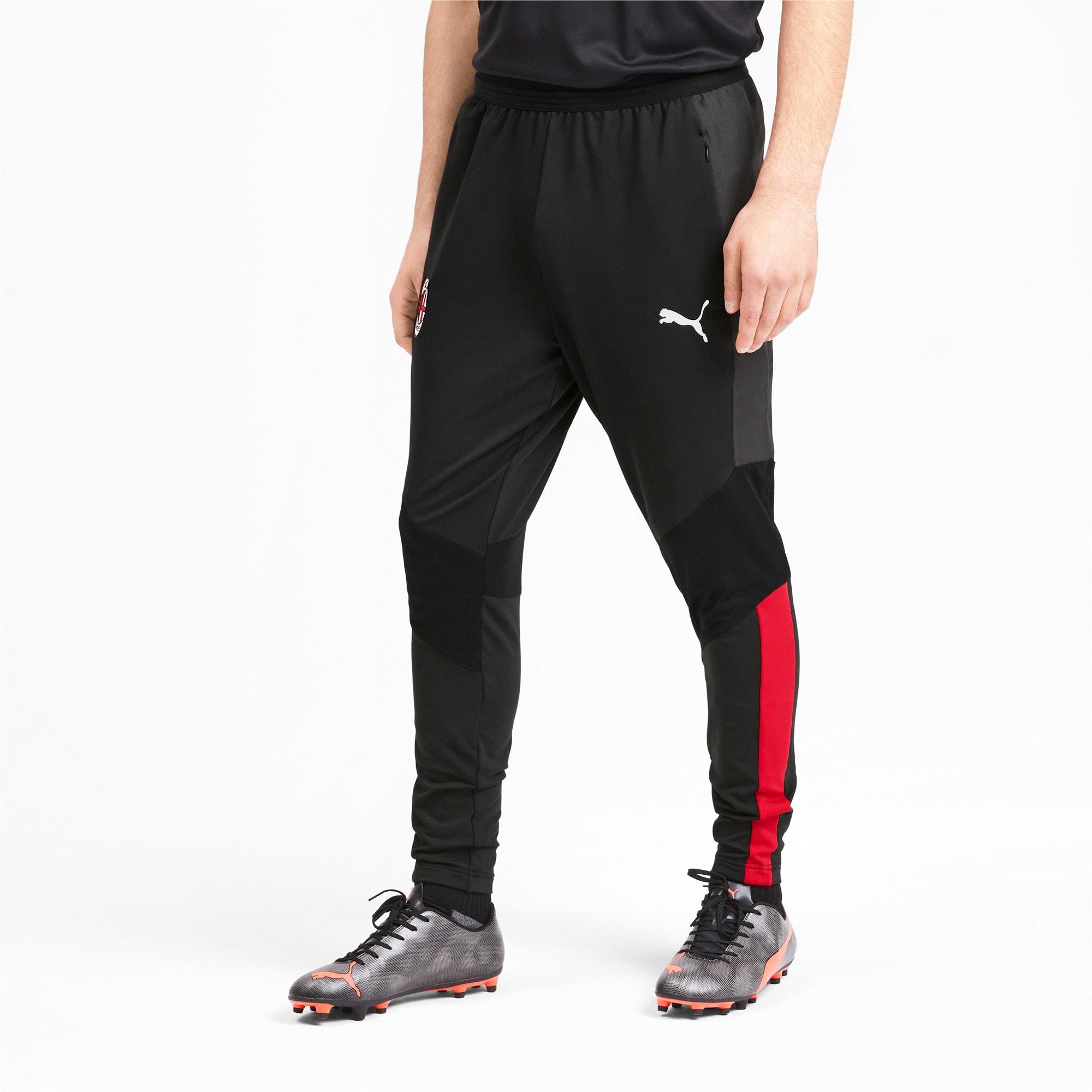 Thumbnail 1 of AC Milan Pro Herren Trainingshose, Puma Black-Tango Red, medium