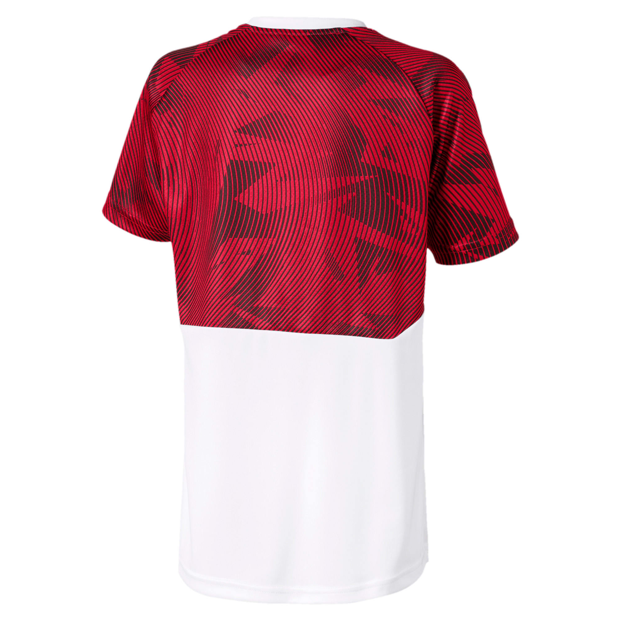 Thumbnail 2 of AC Milan Short Sleeve Kids' Training Jersey, Puma White-Tango Red, medium