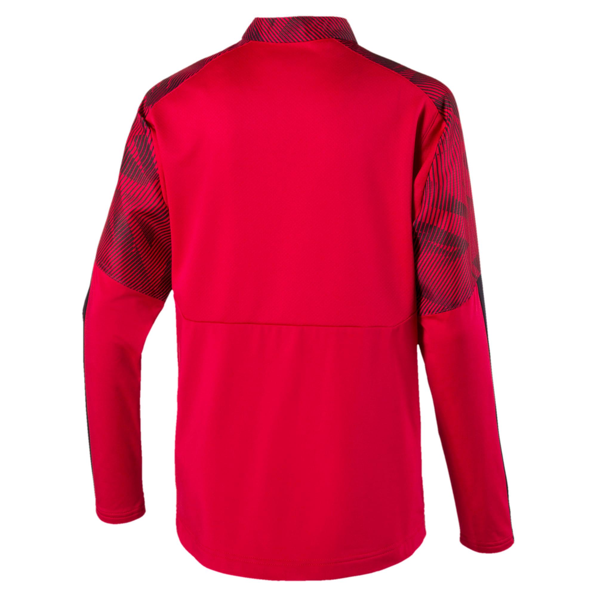 Thumbnail 2 of AC Milan Quarter Zip Kids' Top, Tango Red -Puma Black, medium