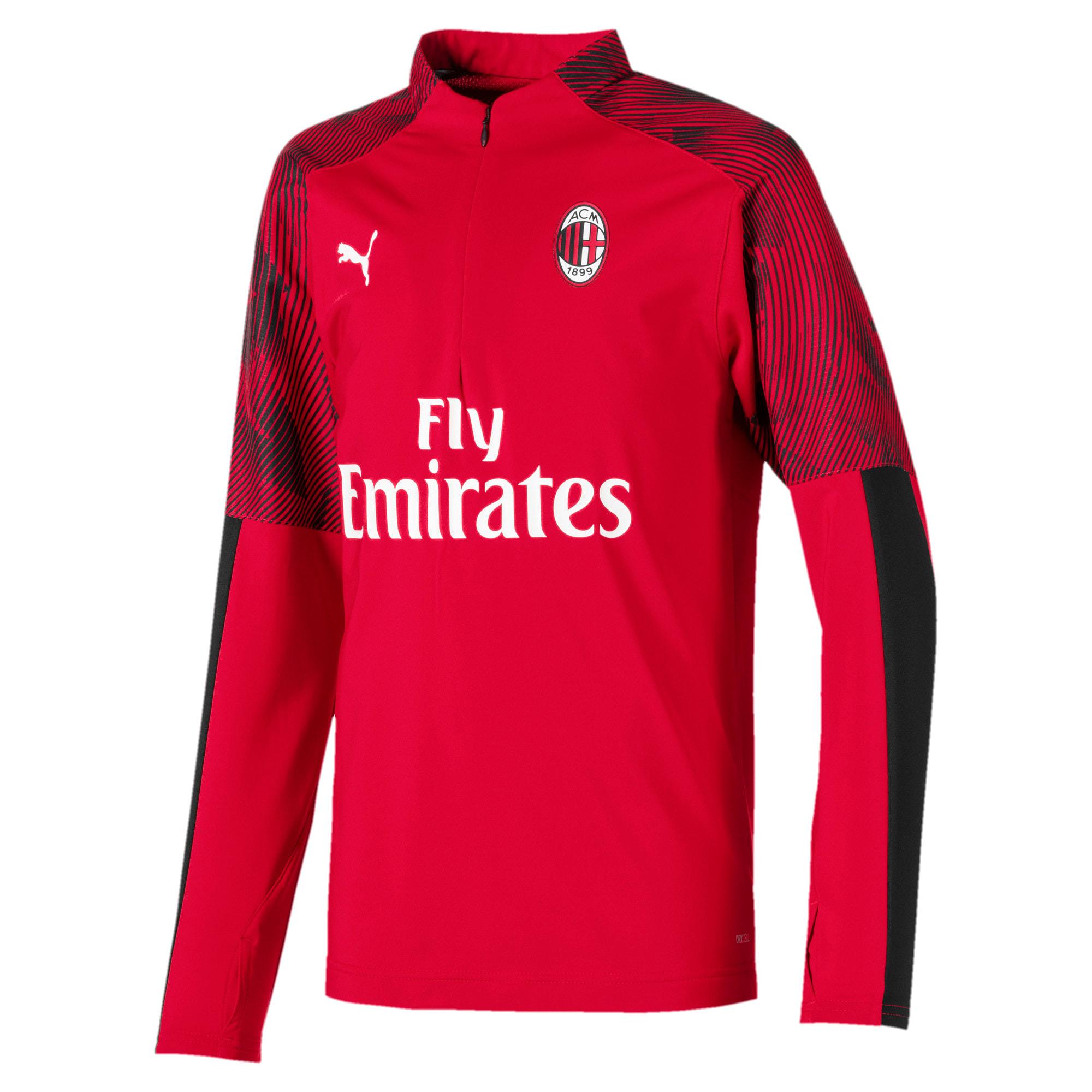 Thumbnail 1 of AC Milan Quarter Zip Kids' Top, Tango Red -Puma Black, medium