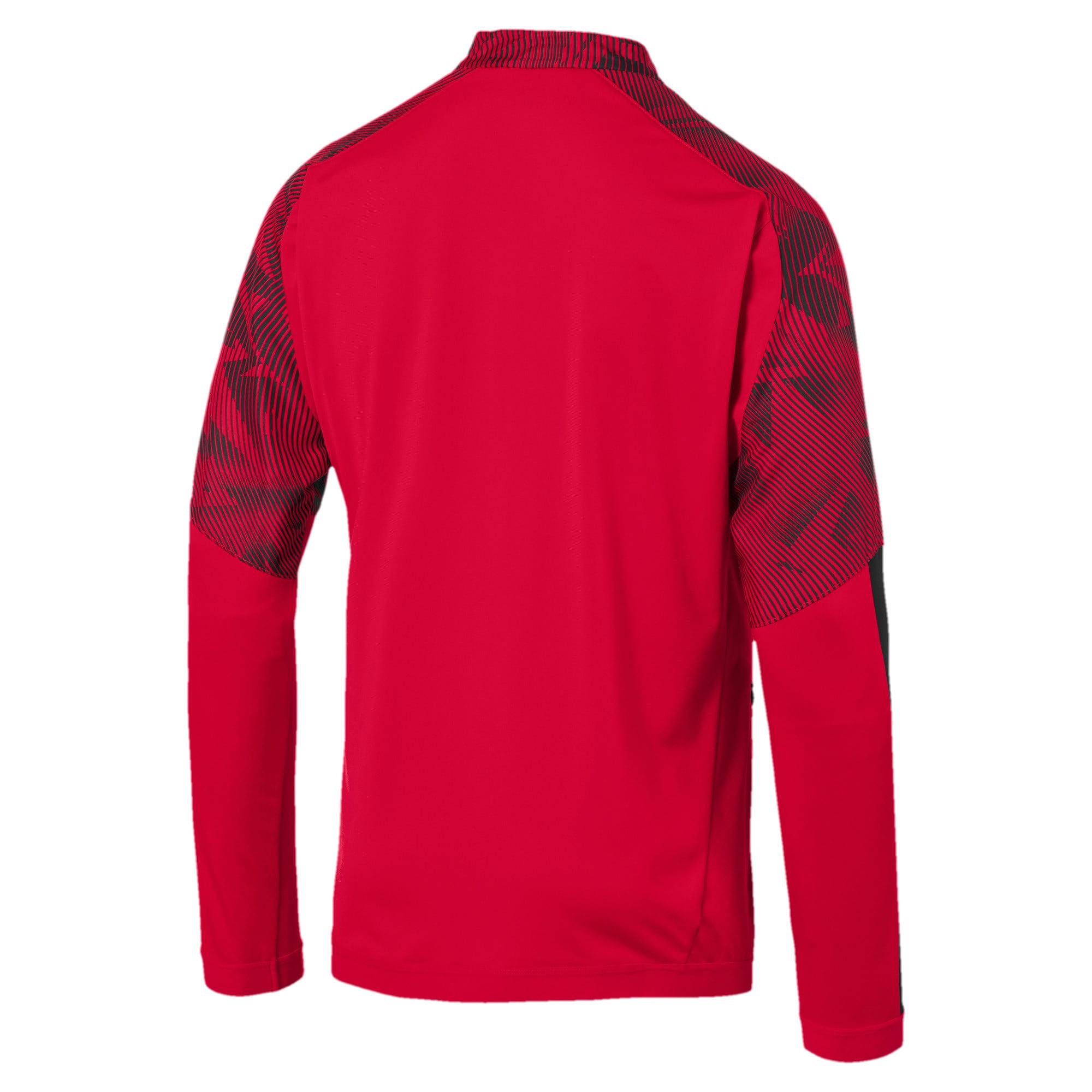 Thumbnail 5 of AC Milan Men's Poly Jacket, Puma Black-Tango Red, medium