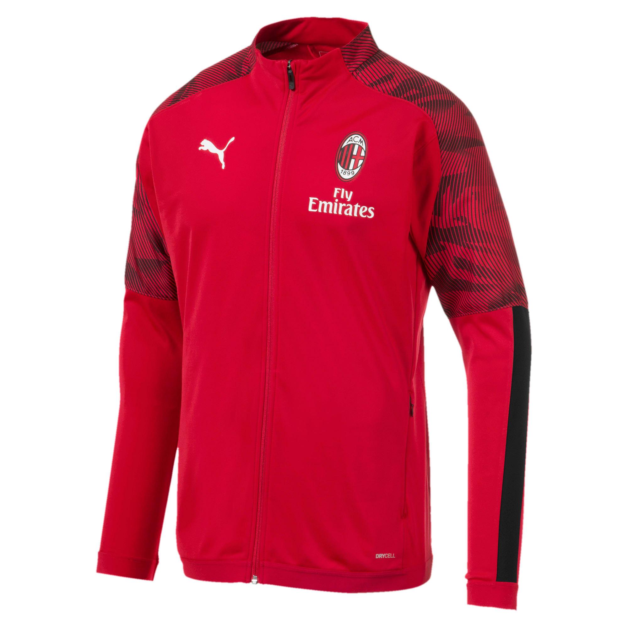 Thumbnail 4 of AC Milan Men's Poly Jacket, Puma Black-Tango Red, medium