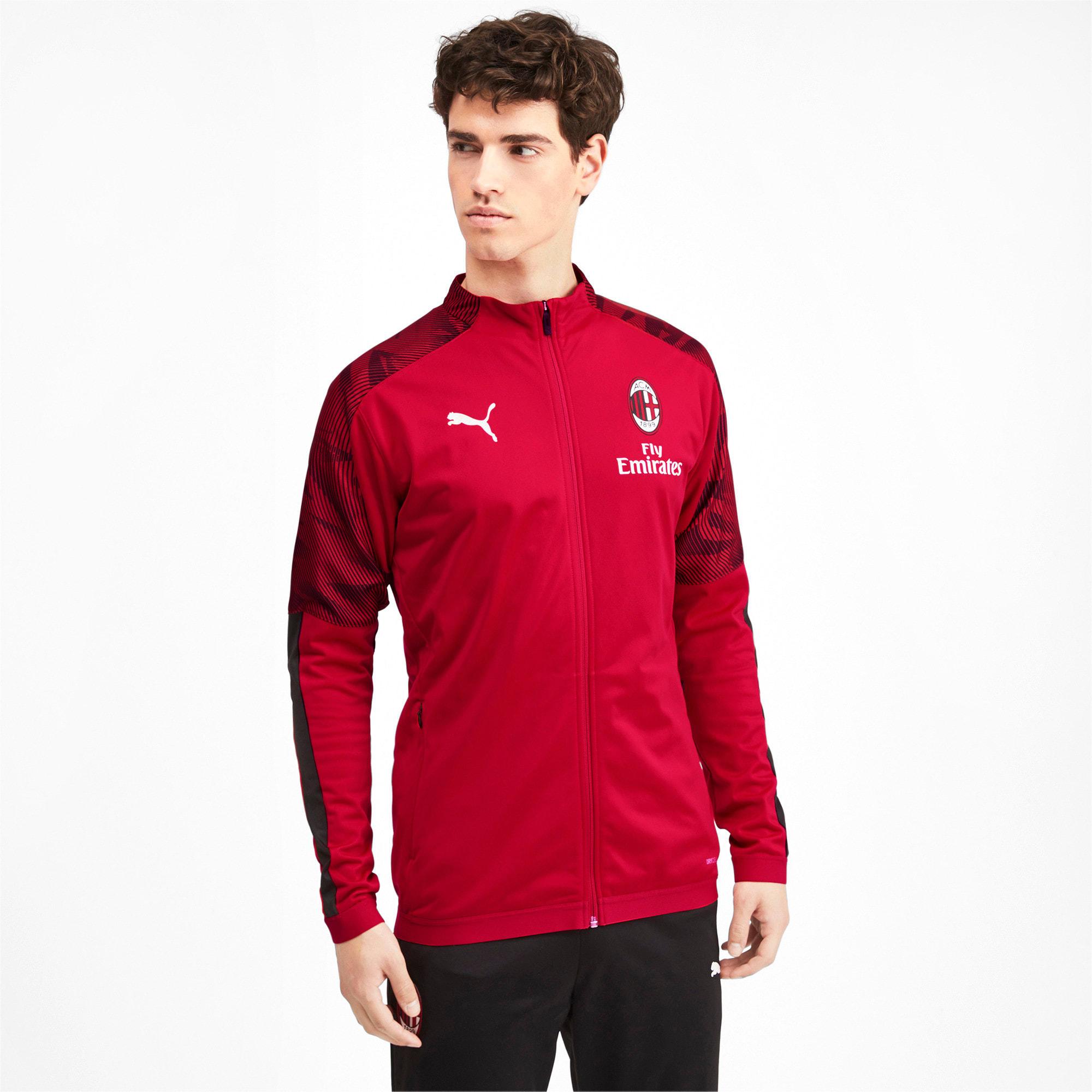 Thumbnail 1 of AC Milan Men's Poly Jacket, Puma Black-Tango Red, medium