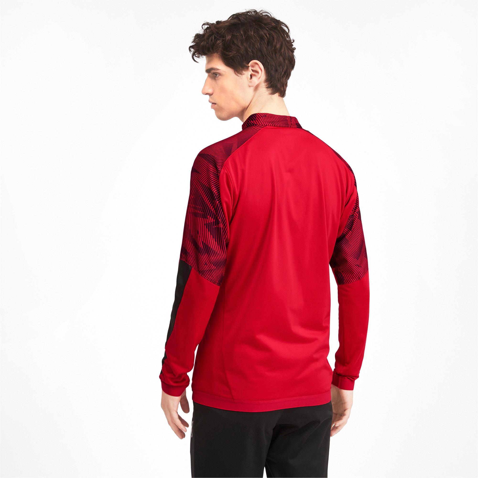 Thumbnail 2 of AC Milan Men's Poly Jacket, Puma Black-Tango Red, medium