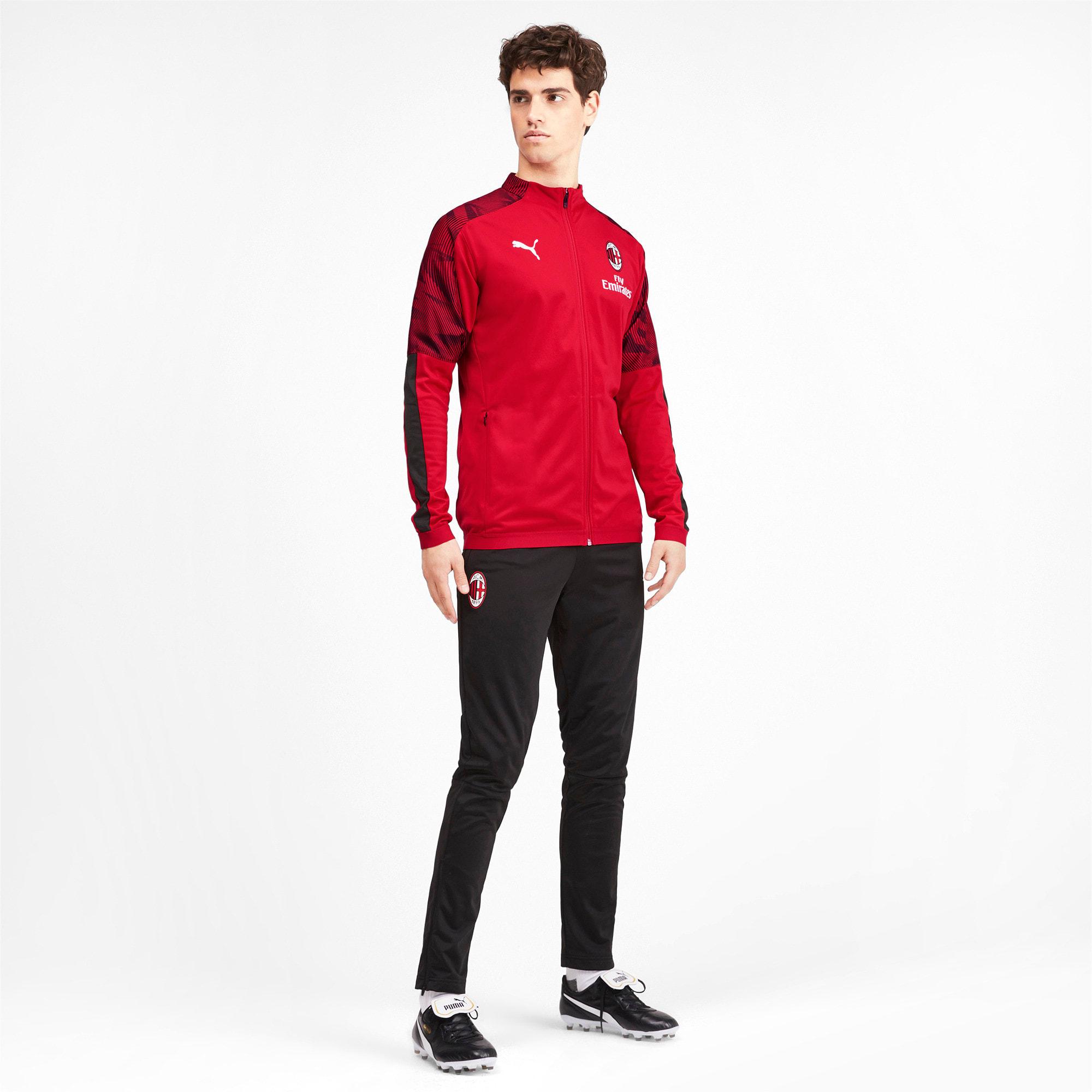 Thumbnail 3 of AC Milan Men's Poly Jacket, Puma Black-Tango Red, medium