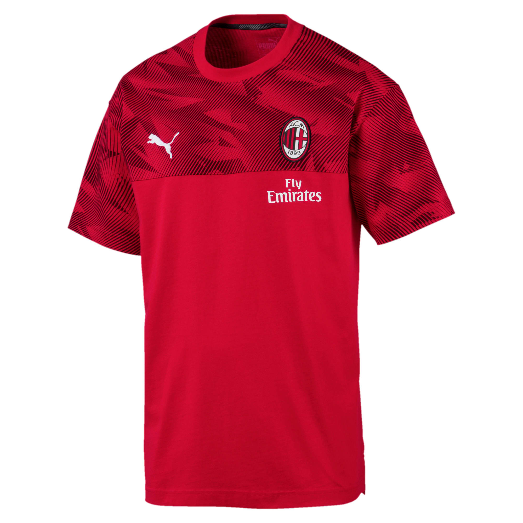 Thumbnail 4 of AC Milan Casuals Men's Tee, Tango Red -Puma Black, medium