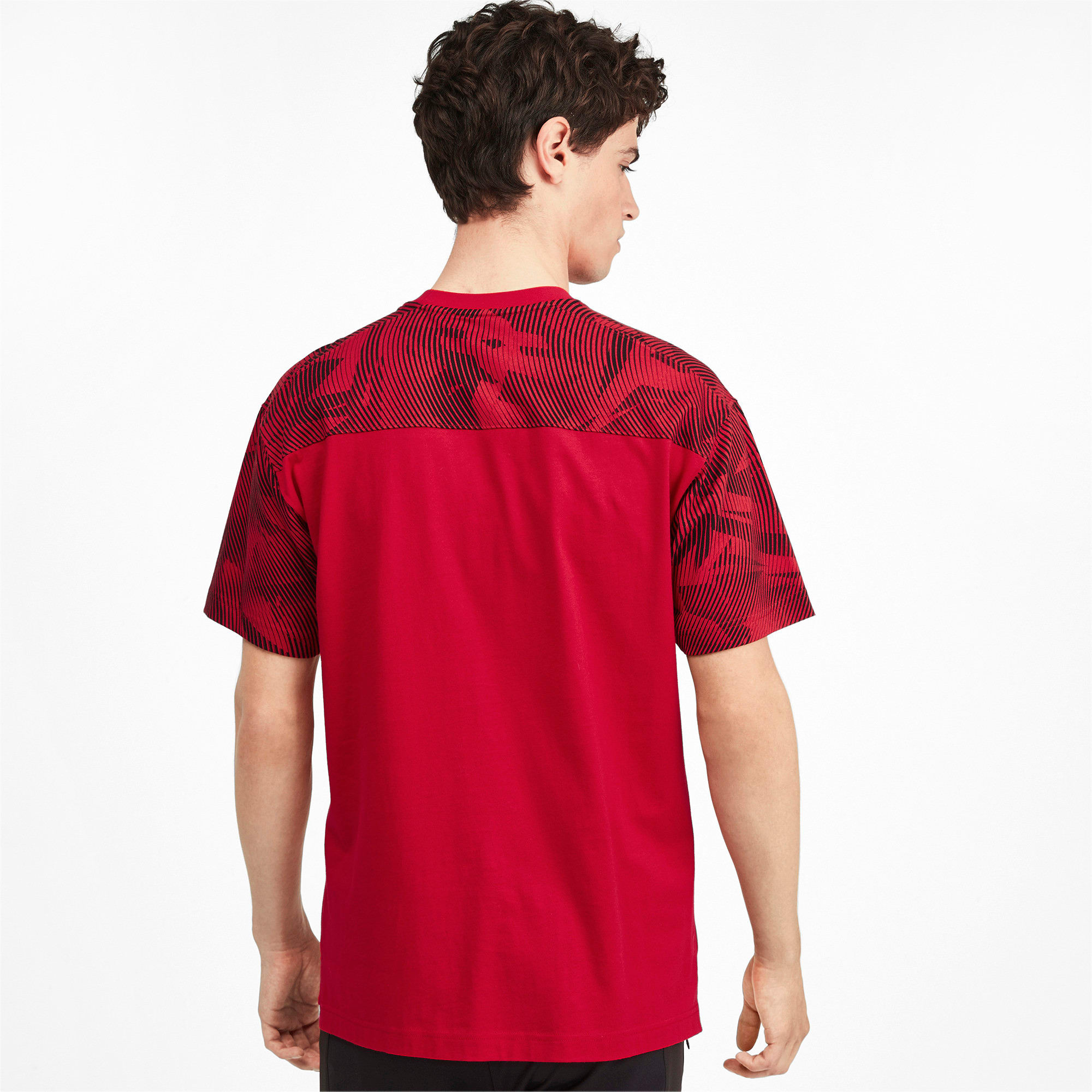 Thumbnail 2 of AC Milan Casuals Men's Tee, Tango Red -Puma Black, medium