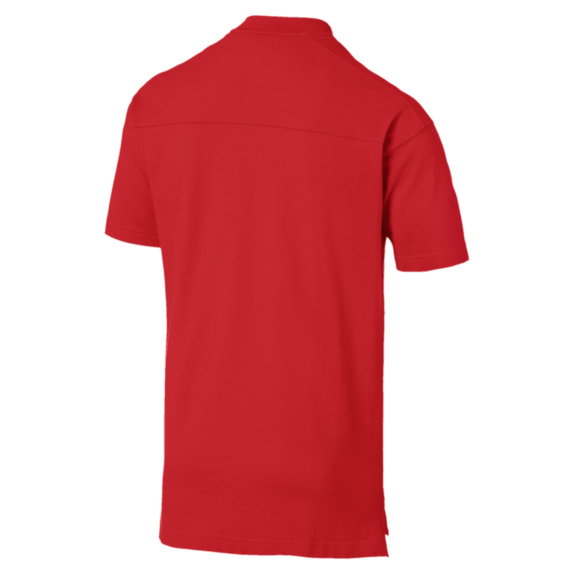 Thumbnail 5 of AC Milan Casuals Men's Polo Shirt, Tango Red -Puma Black, medium