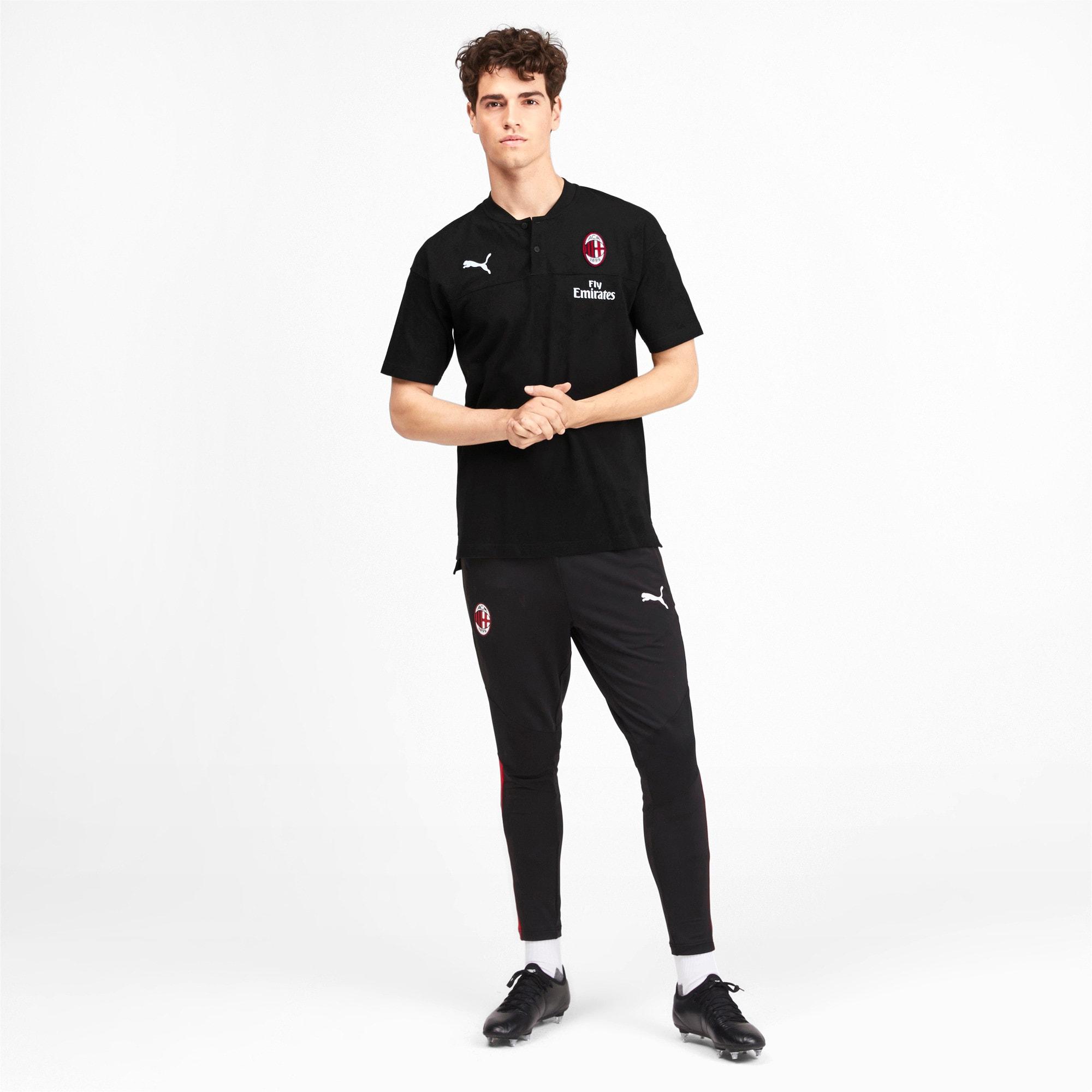Thumbnail 3 of AC Milan Casuals poloshirt voor heren, Puma Black-Tango Red, medium