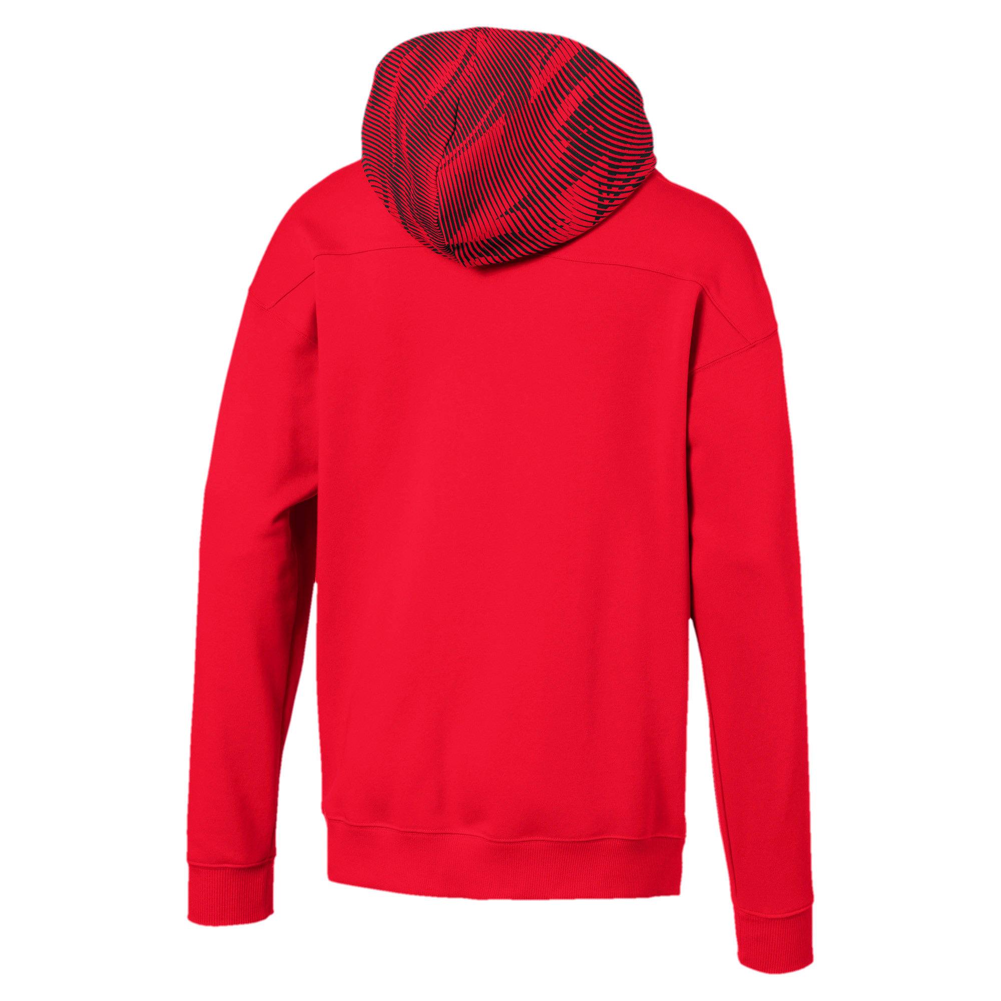 Thumbnail 5 of AC Milan Casuals Men's Hoodie, Tango Red -Puma Black, medium