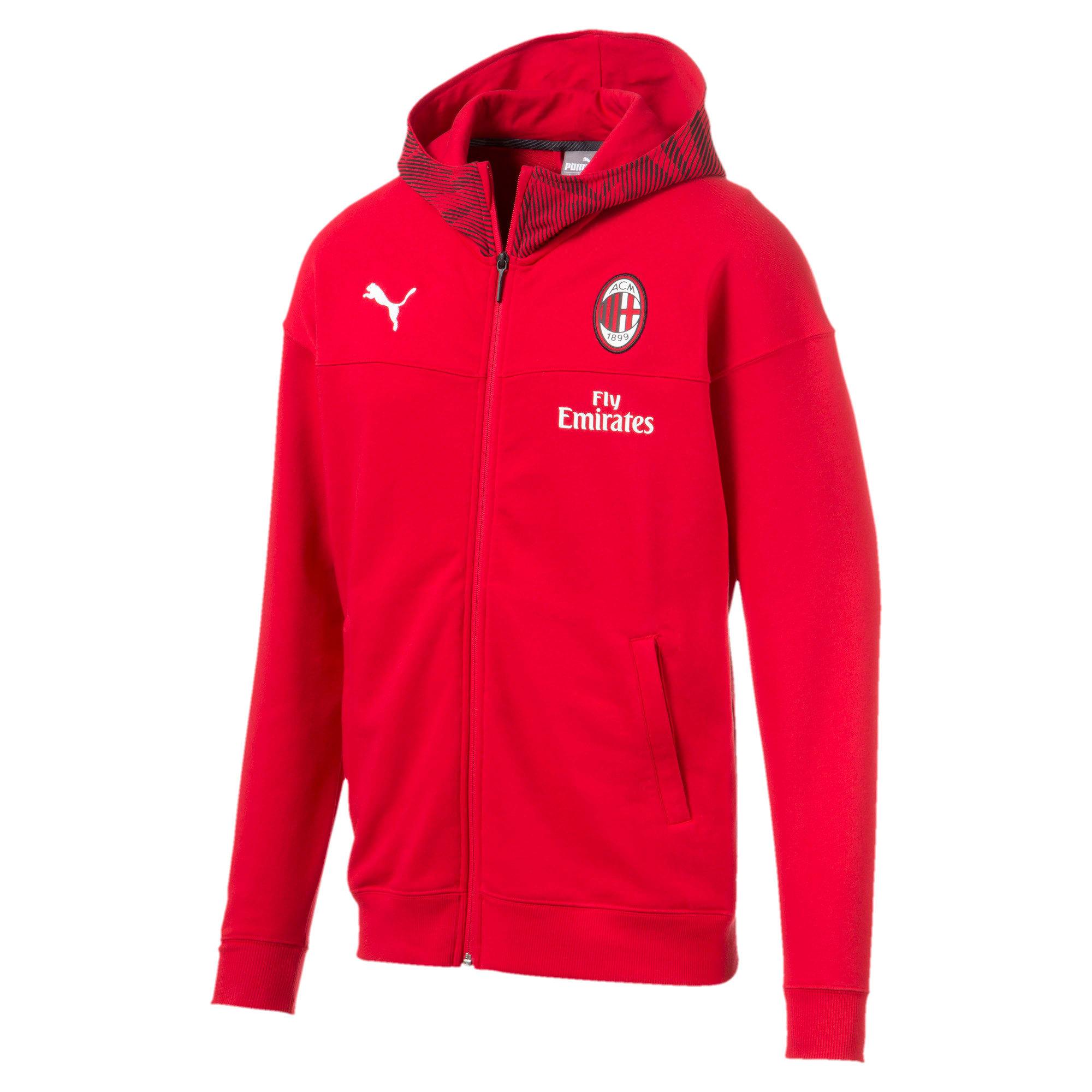 Thumbnail 4 of AC Milan Casuals Men's Hoodie, Tango Red -Puma Black, medium