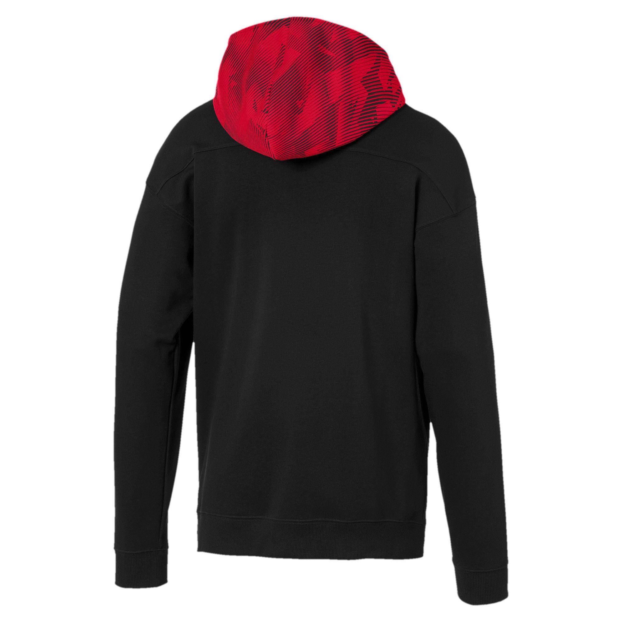 Thumbnail 5 of AC Milan Casuals Men's Hoodie, Puma Black-Tango Red, medium