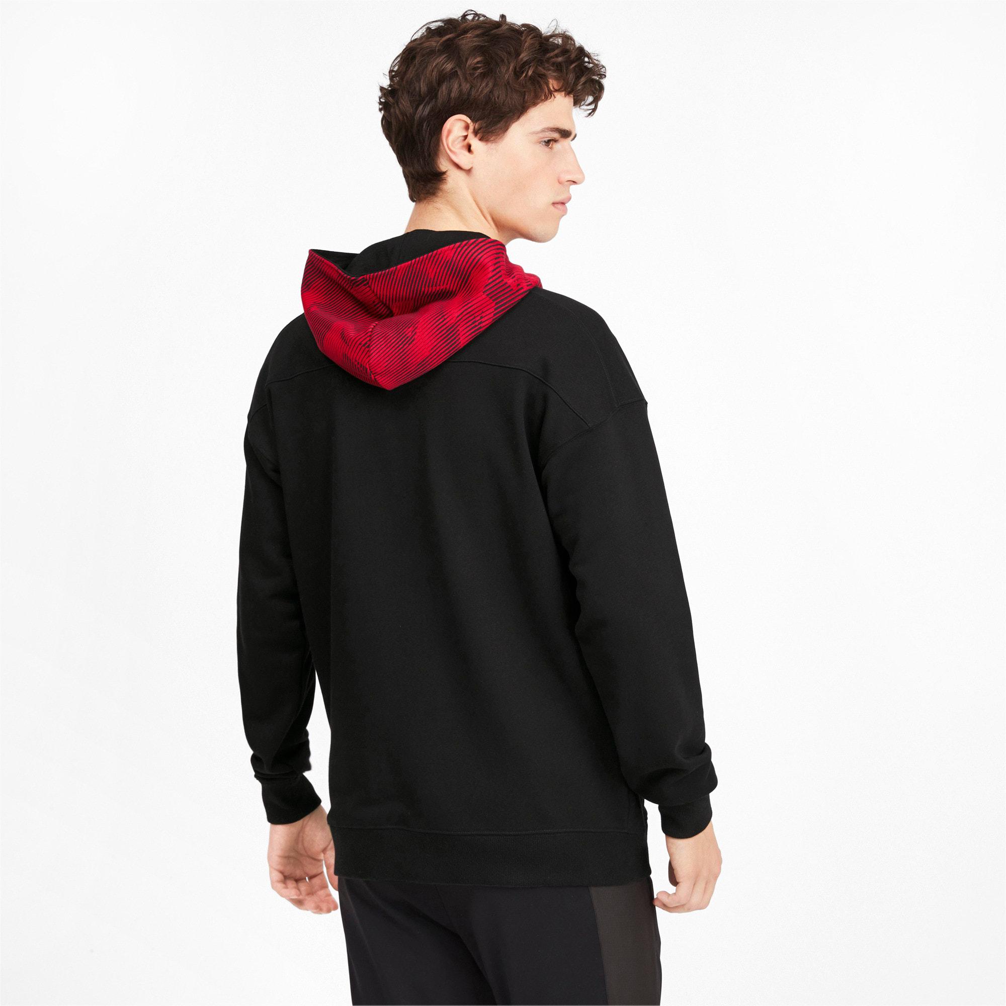 Thumbnail 2 of AC Milan Casuals Men's Hoodie, Puma Black-Tango Red, medium