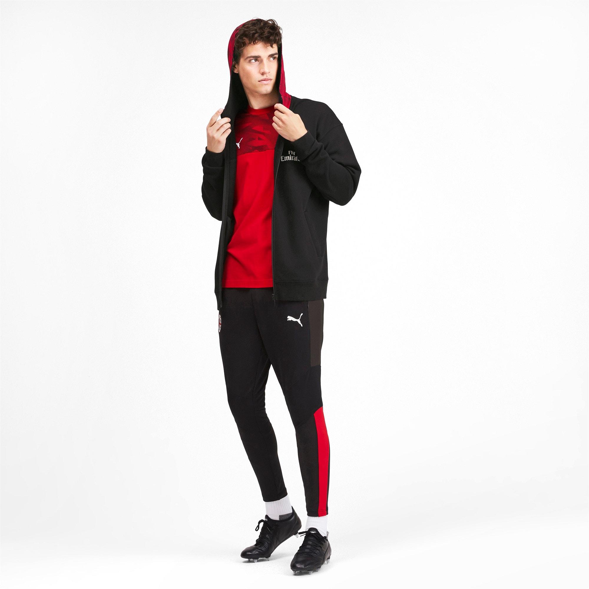 Thumbnail 3 of AC Milan Casuals Men's Hoodie, Puma Black-Tango Red, medium