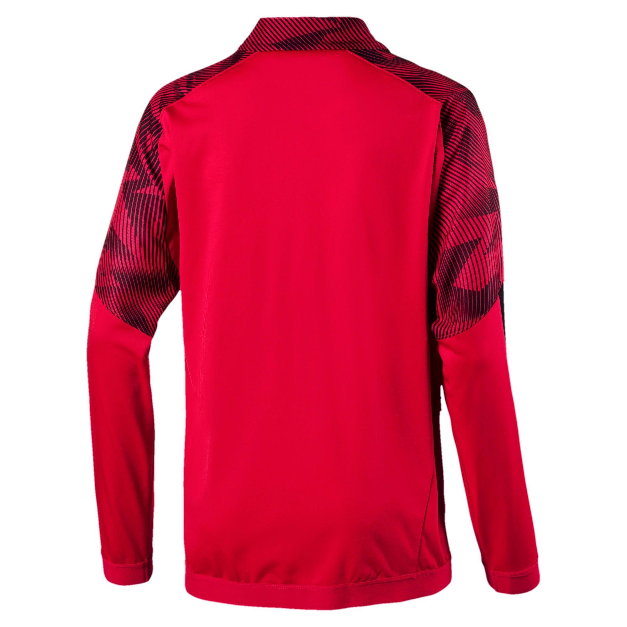 Thumbnail 2 of AC Milan Boys' Poly Jacket, Tango Red -Puma Black, medium