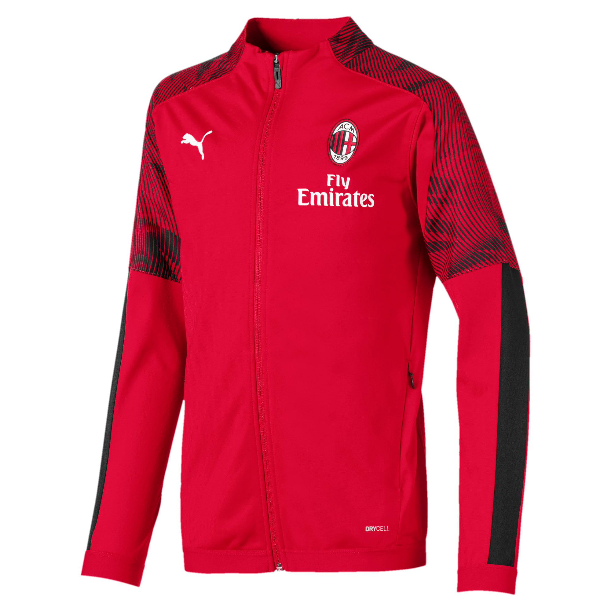 Thumbnail 1 of AC Milan Boys' Poly Jacket, Tango Red -Puma Black, medium