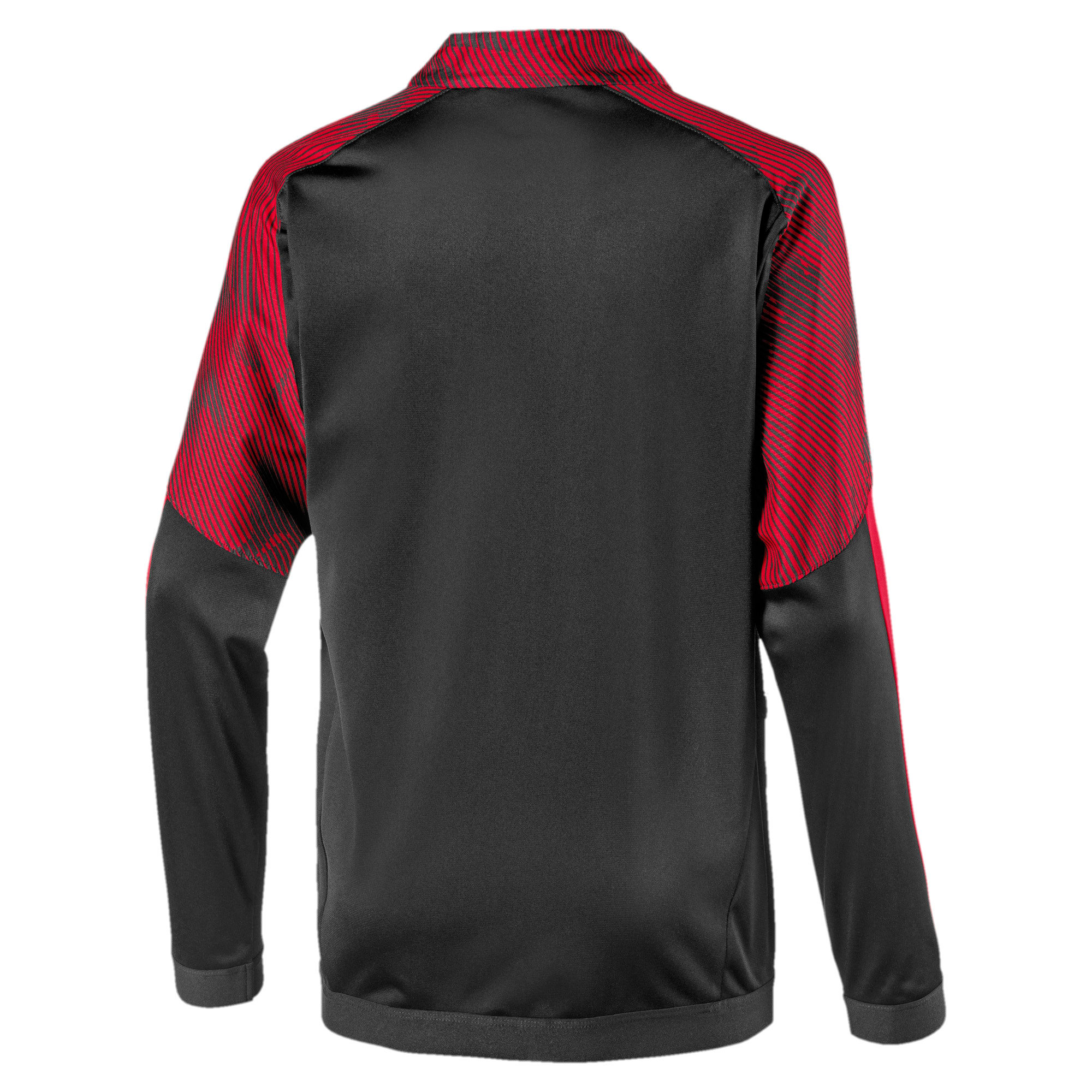 Thumbnail 2 of AC Milan Boys' Poly Jacket, Puma Black-Tango Red, medium