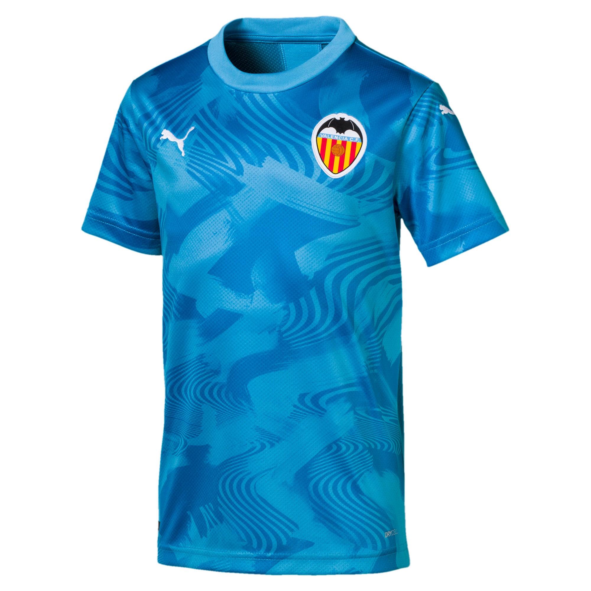 Thumbnail 1 of Valencia CF Third Replica Kids' Shirt, Bleu Azur-Indigo Bunting, medium