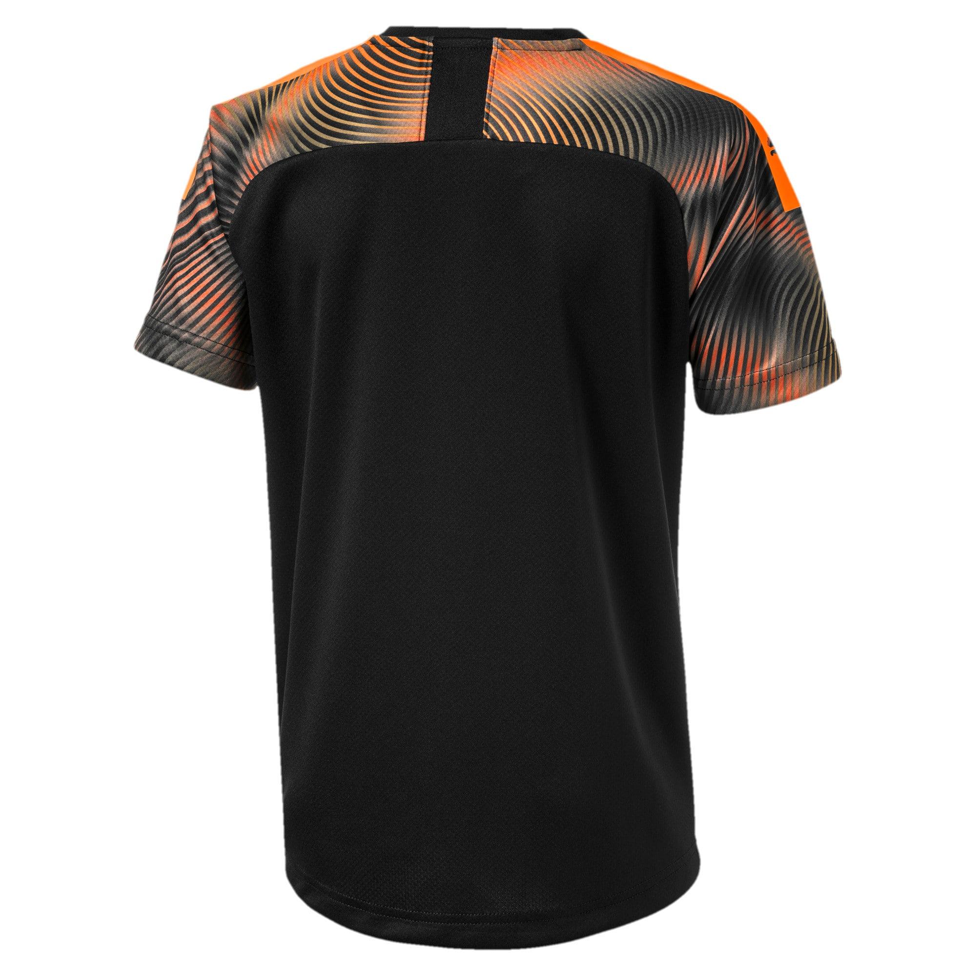 Thumbnail 2 of Valencia CF Away Replica Boys' Shirt, Puma Black-Vibrant Orange, medium