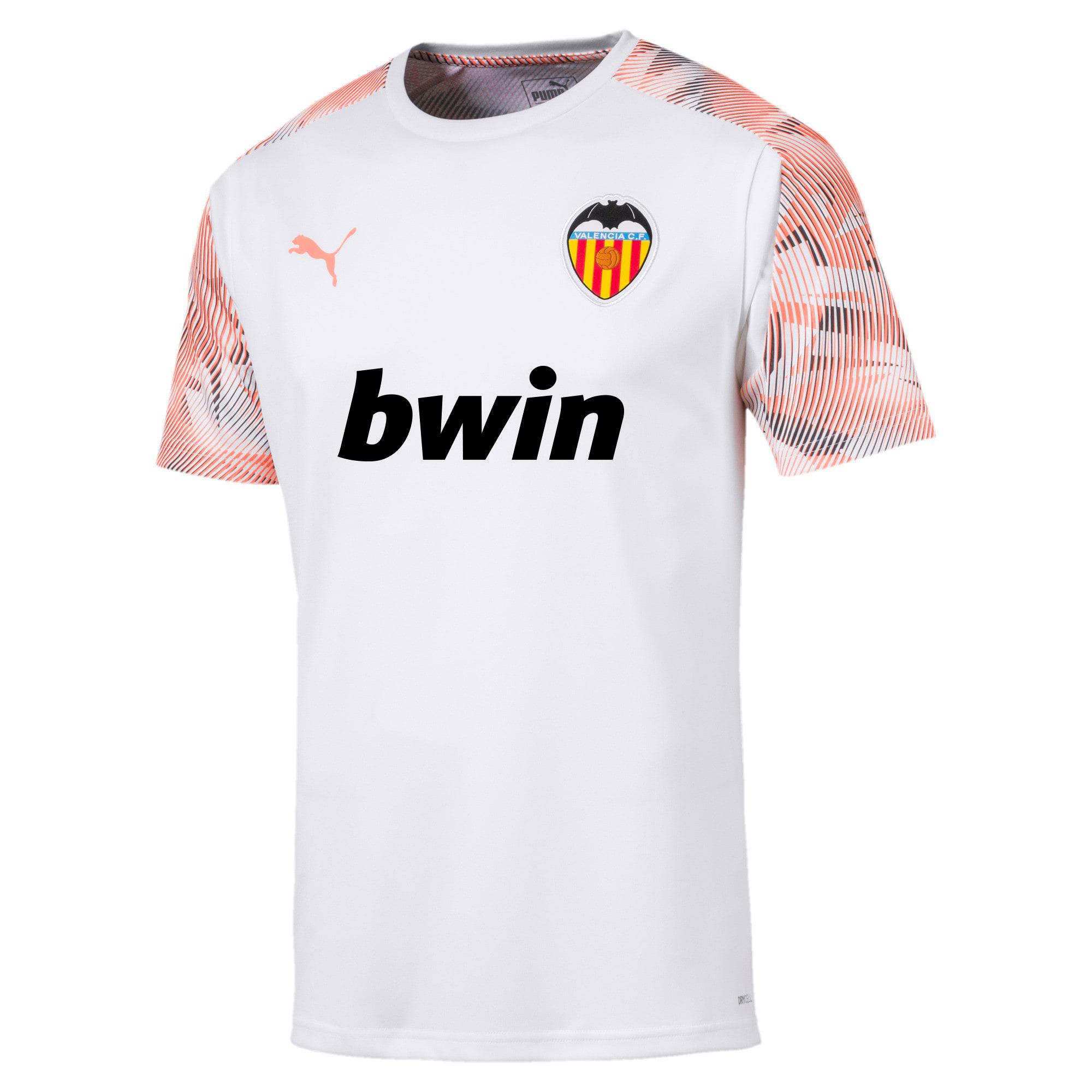 Thumbnail 1 of Valencia CF Men's Training Jersey, Puma White-Fizzy Orange, medium