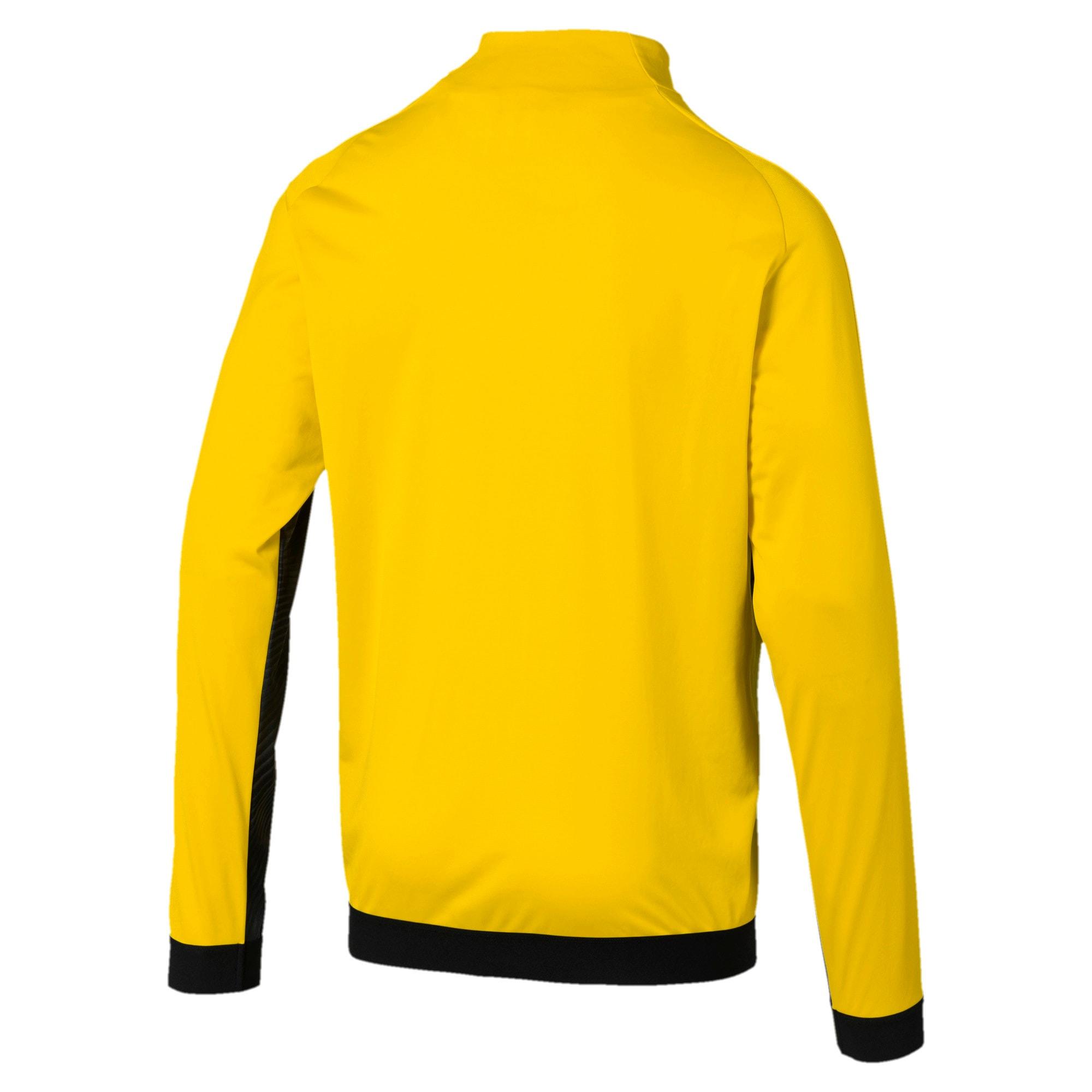 Thumbnail 2 of BVB Men's League Stadium Jacket, Cyber Yellow-Puma Black, medium