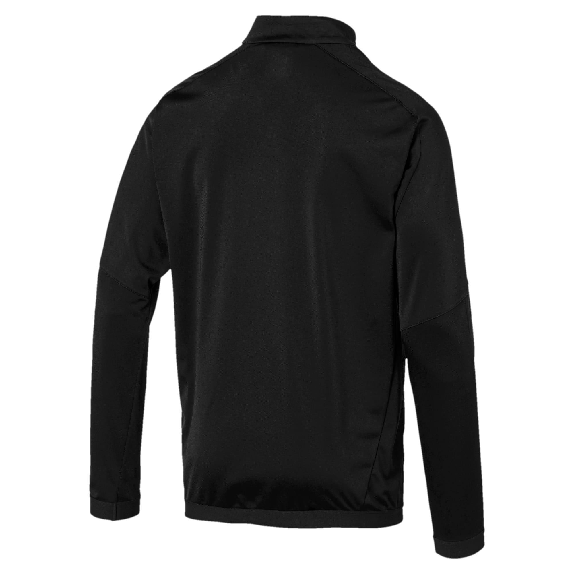 Thumbnail 3 of Man City Men's International Stadium Jacket, Puma Black-Georgia Peach, medium