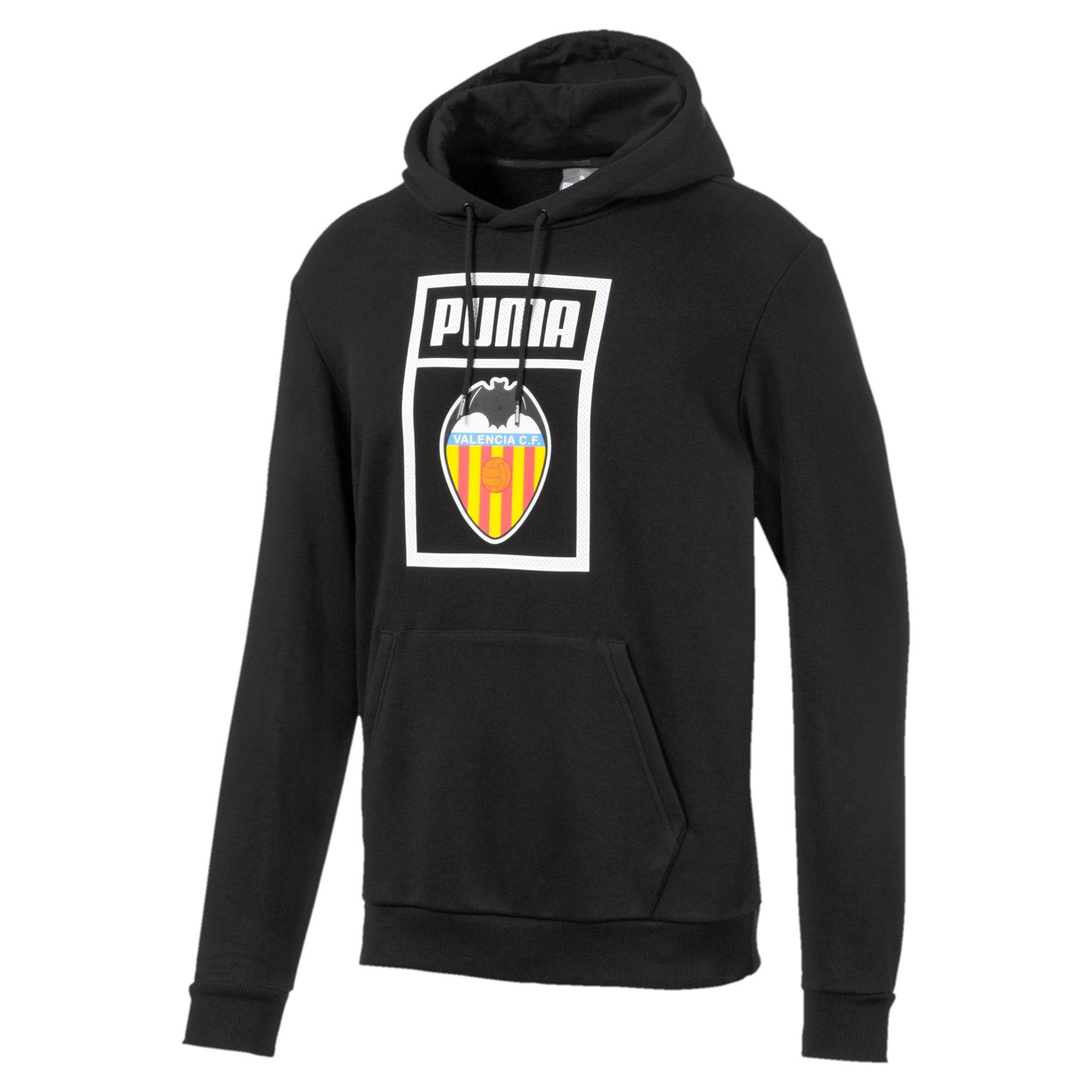 Thumbnail 1 of Valencia CF Shoe Tag Men's Hoodie, Puma Black, medium