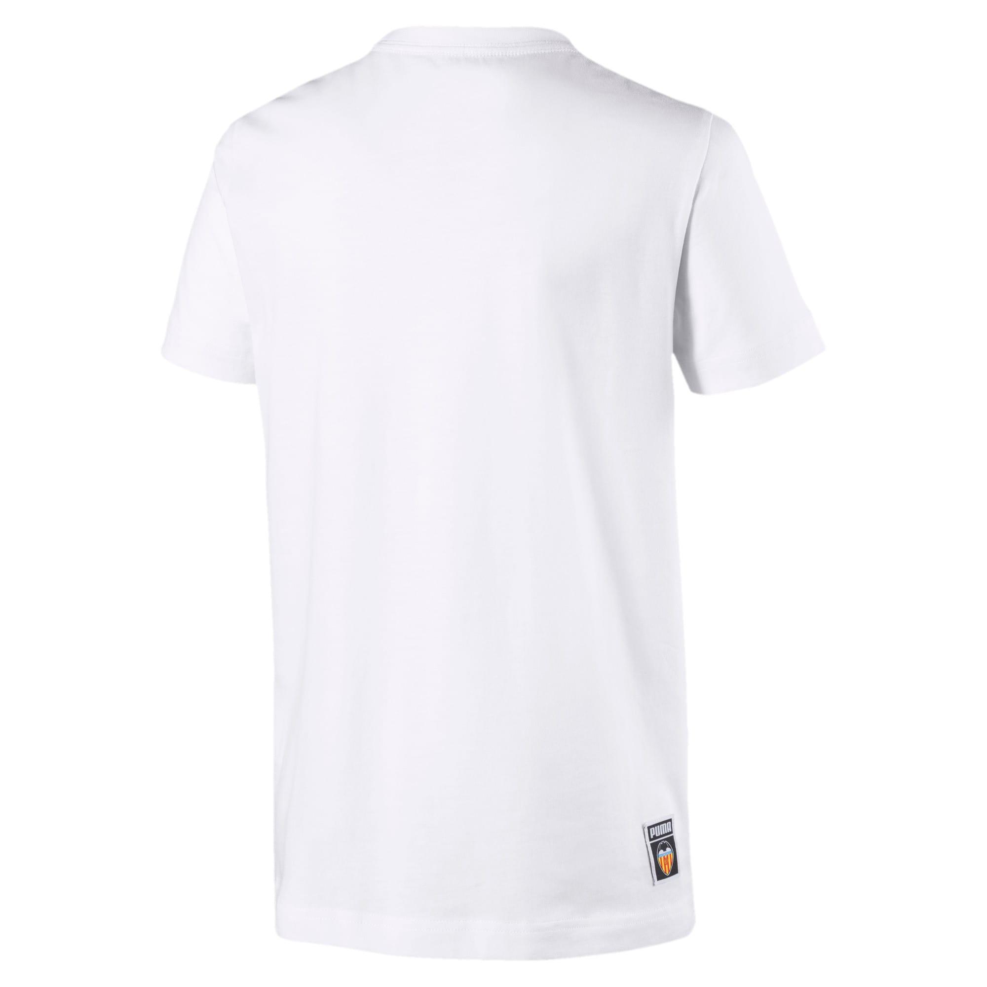 Thumbnail 2 van Valencia CF Shoe Tag T-shirt voor jongens, Puma White, medium