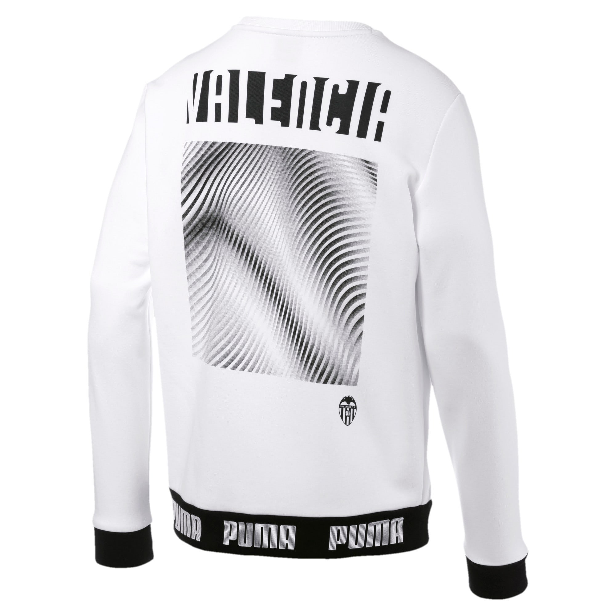 Thumbnail 2 of Valencia CF Football Culture Men's Sweater, Puma White, medium