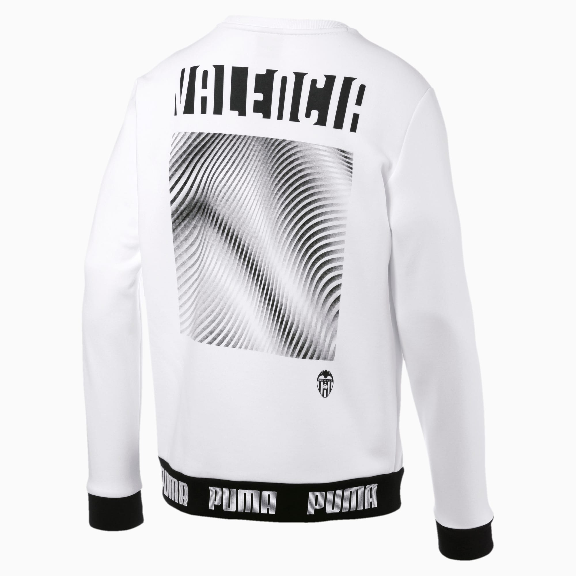 Valencia CF Football Culture Herren Sweatshirt | Puma White