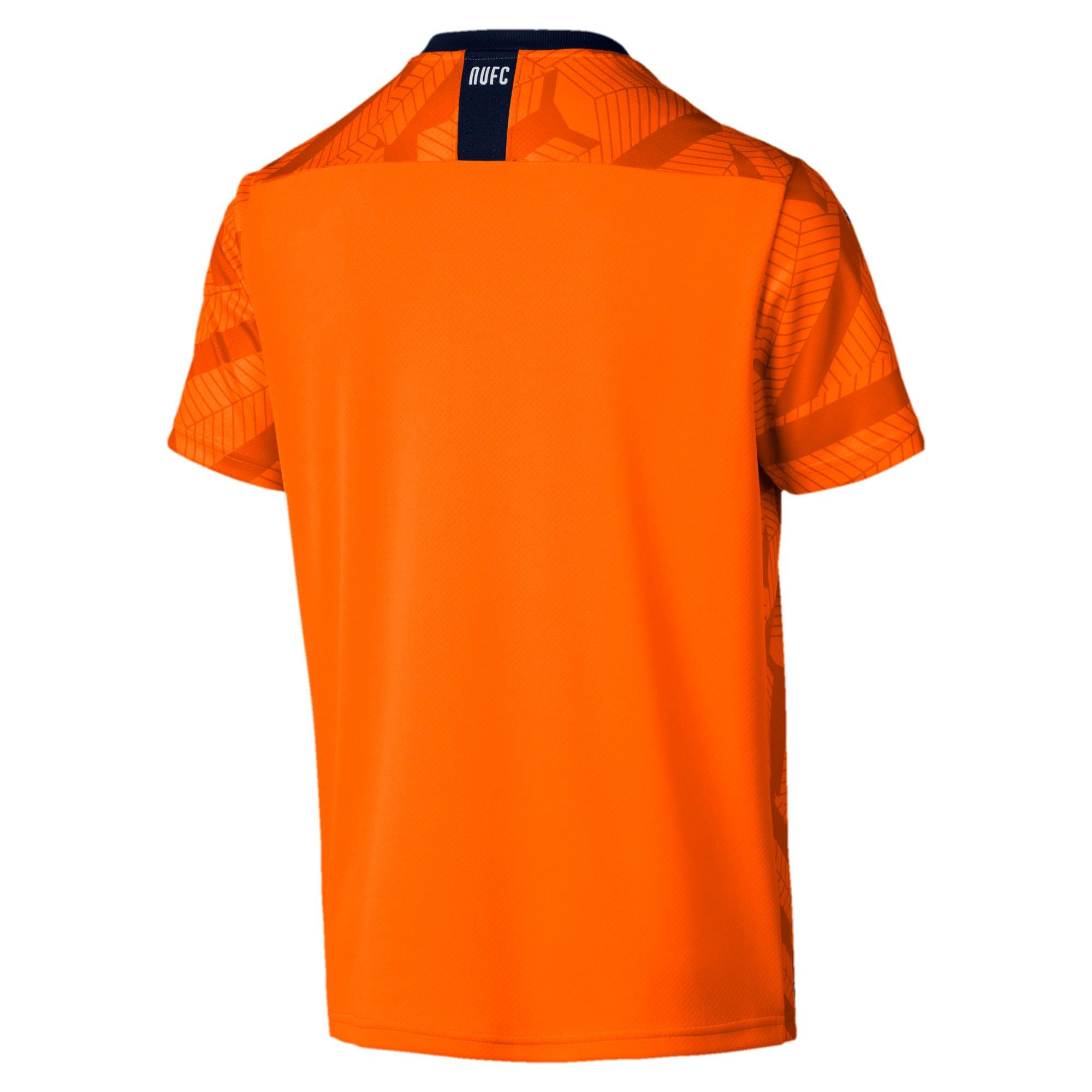 Thumbnail 2 of Newcastle United FC Men's Third Replica Short Sleeve Jersey, Vibrant Orange-Peacoat, medium