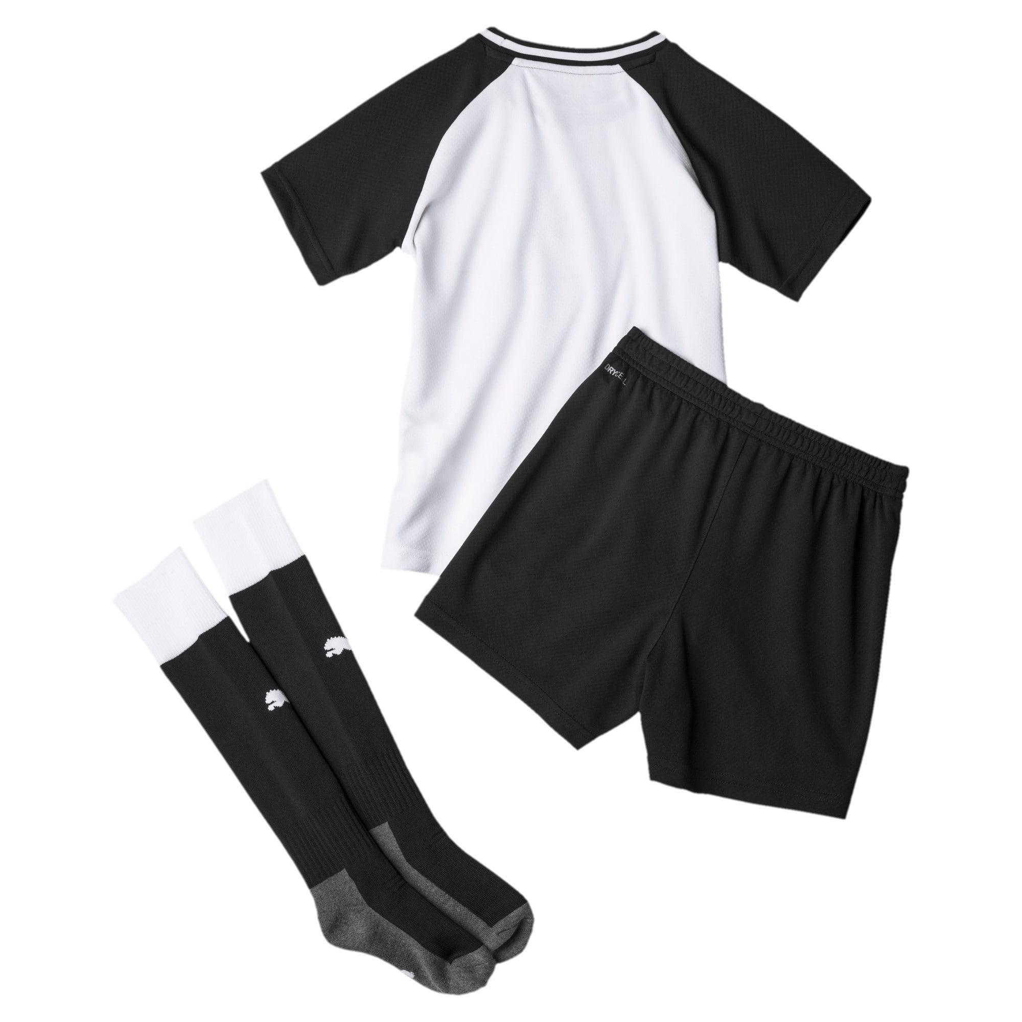 Thumbnail 2 of Newcastle United Kids' Home Mini Kit, Puma White-Puma Black, medium