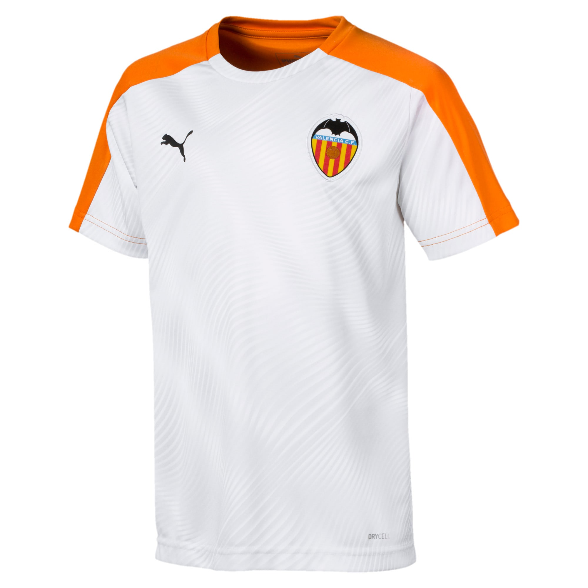 Thumbnail 1 of Valencia CF Kids' Stadium Jersey, Vibrant Orange-Puma White, medium