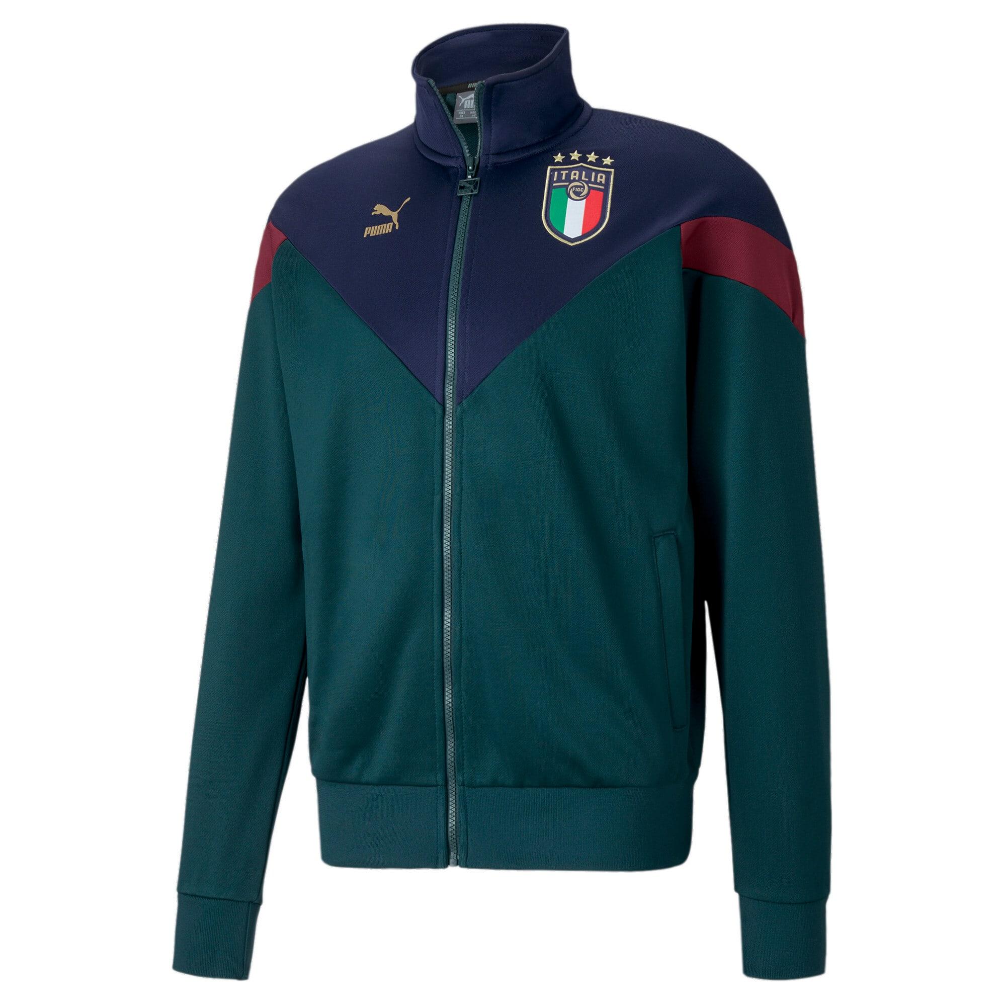 Miniatura 1 de Chaqueta deportiva Iconic MCS de la FIGC para hombre , Ponderosa Pine-Peacoat, mediano