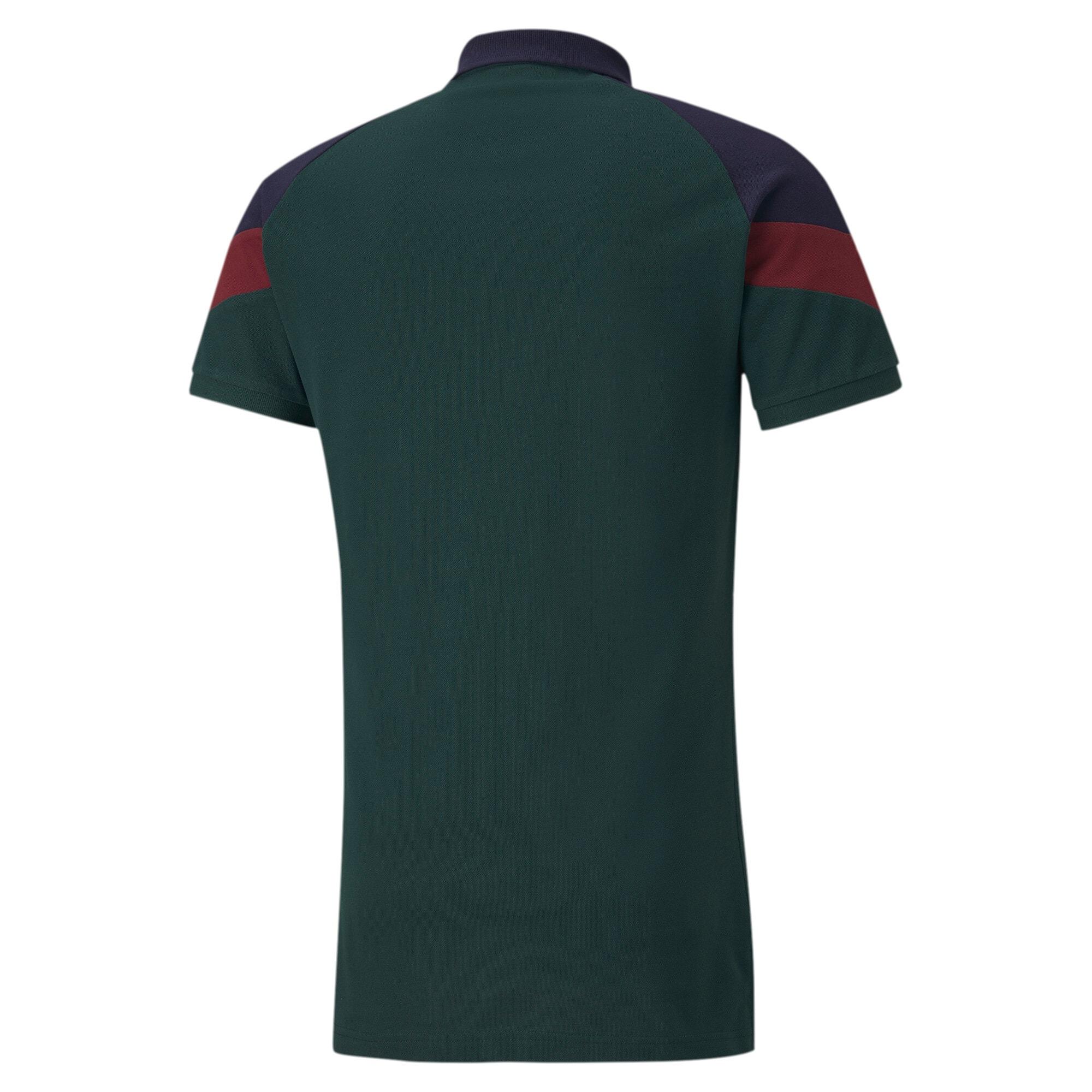 Thumbnail 2 of FIGC Iconic MCS Men's Polo, Ponderosa Pine-peacoat, medium