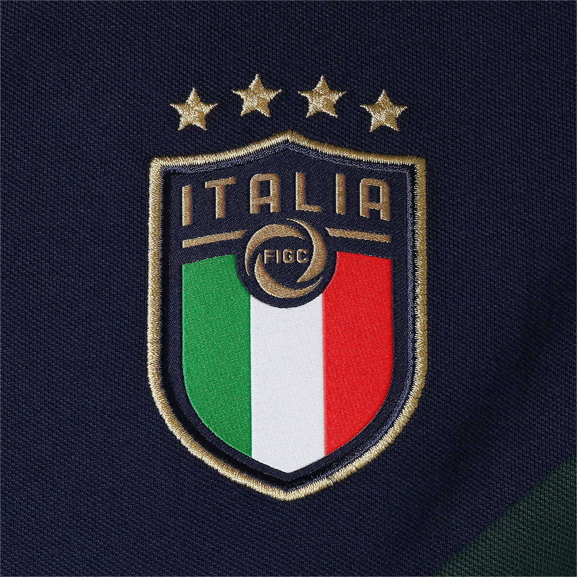 Thumbnail 8 of FIGC イタリア ICONIC MCS ポロシャツ 半袖, Ponderosa Pine-peacoat, medium-JPN