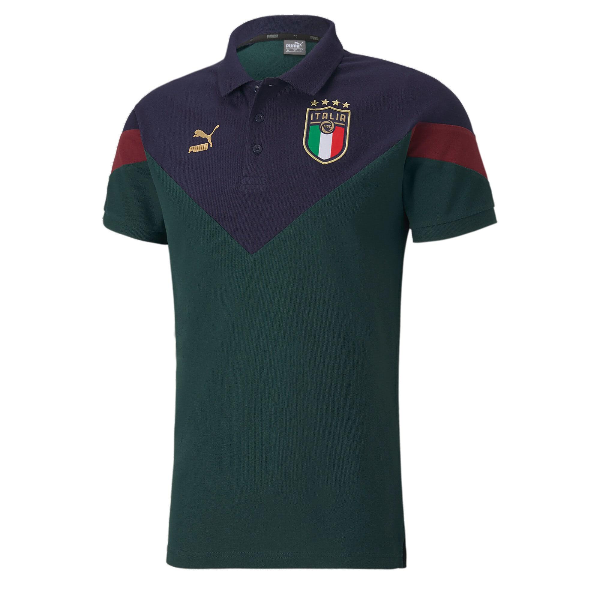 Thumbnail 1 of FIGC Iconic MCS Men's Polo, Ponderosa Pine-peacoat, medium