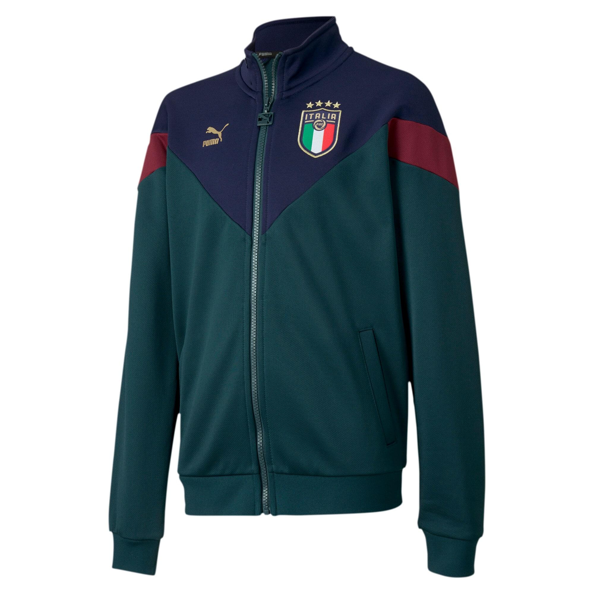 Thumbnail 1 of Italia Kids' MCS Track Jacket, Ponderosa Pine-Peacoat, medium
