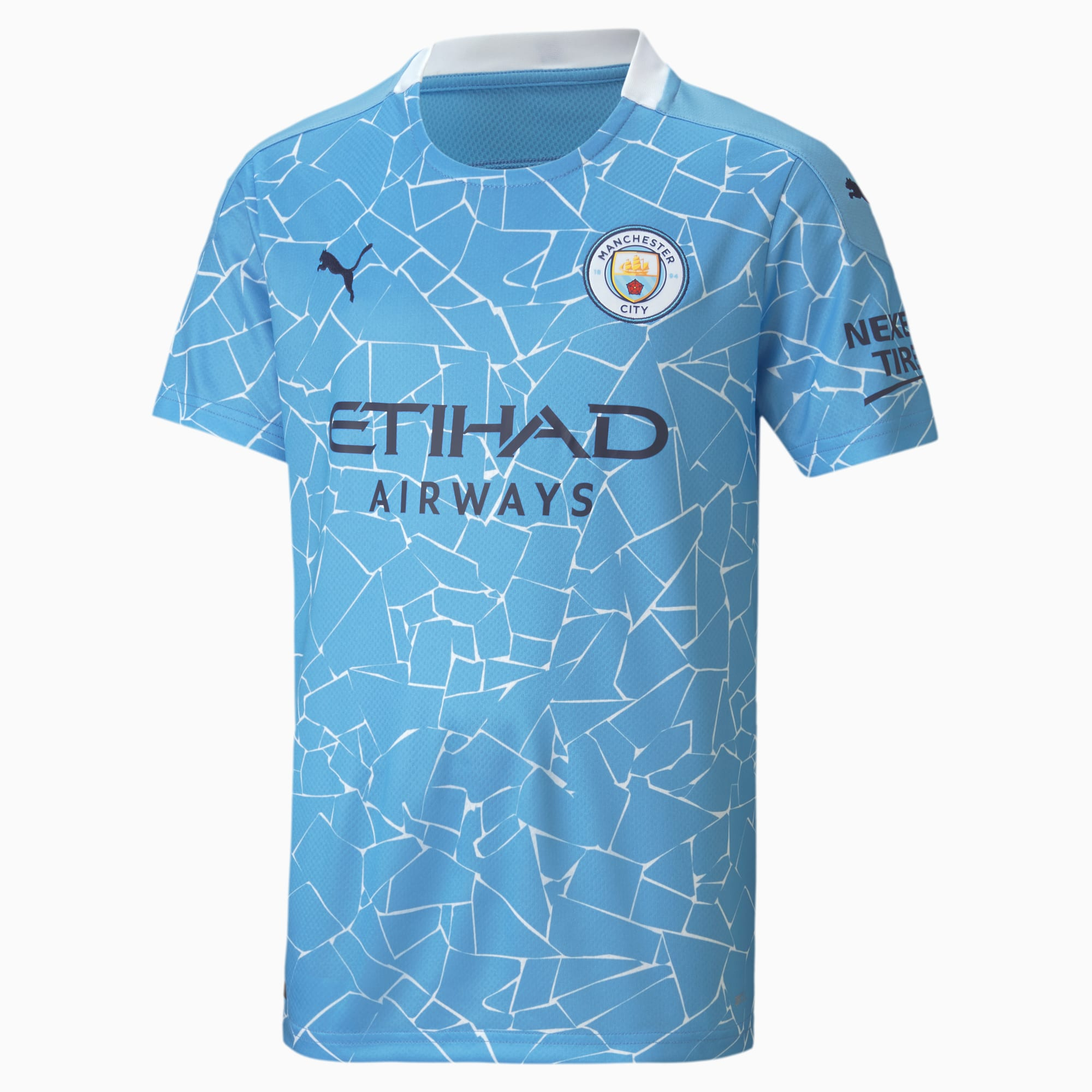 Man City Home Replica Youth Jersey | Team Light Blue-Peacoat | PUMA  Personalise