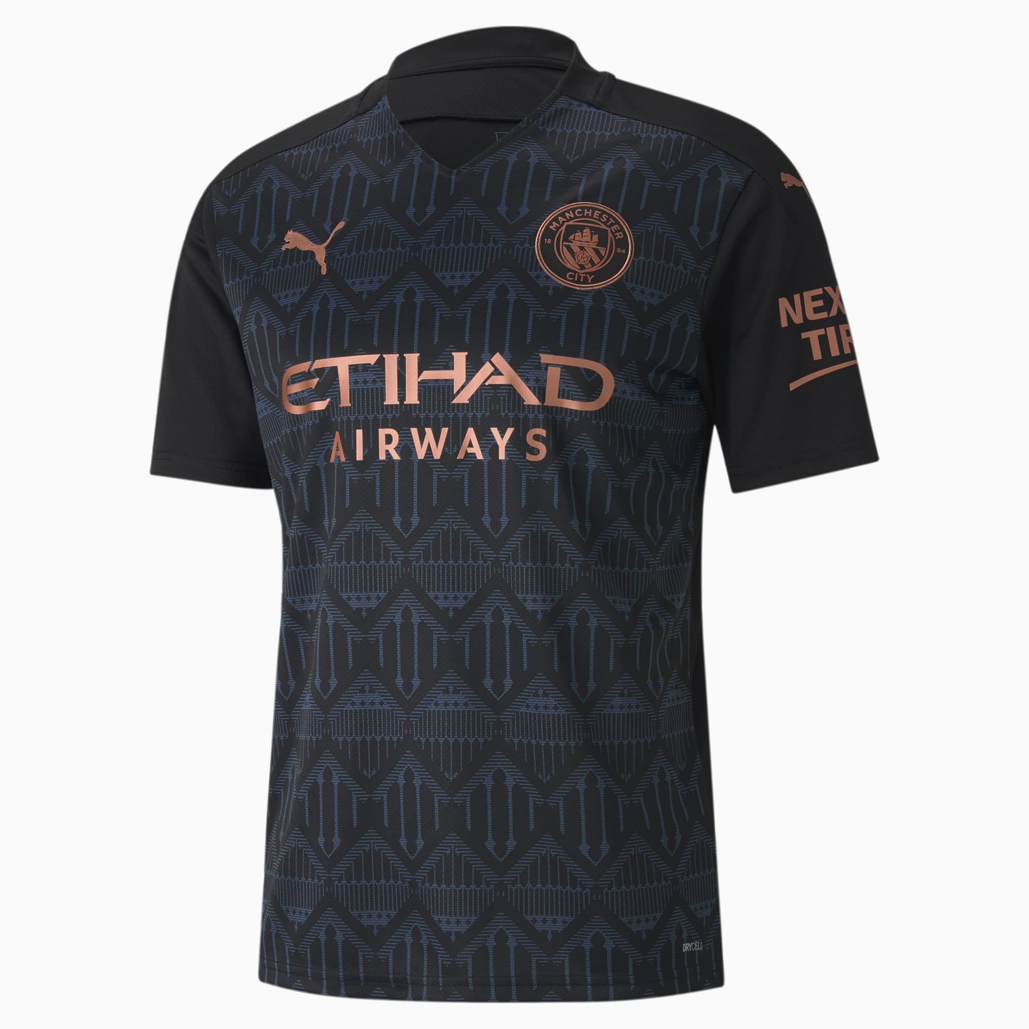 Man City Away Replica Men's Jersey | Puma Black-Dark Denim | PUMA Football  Clubs