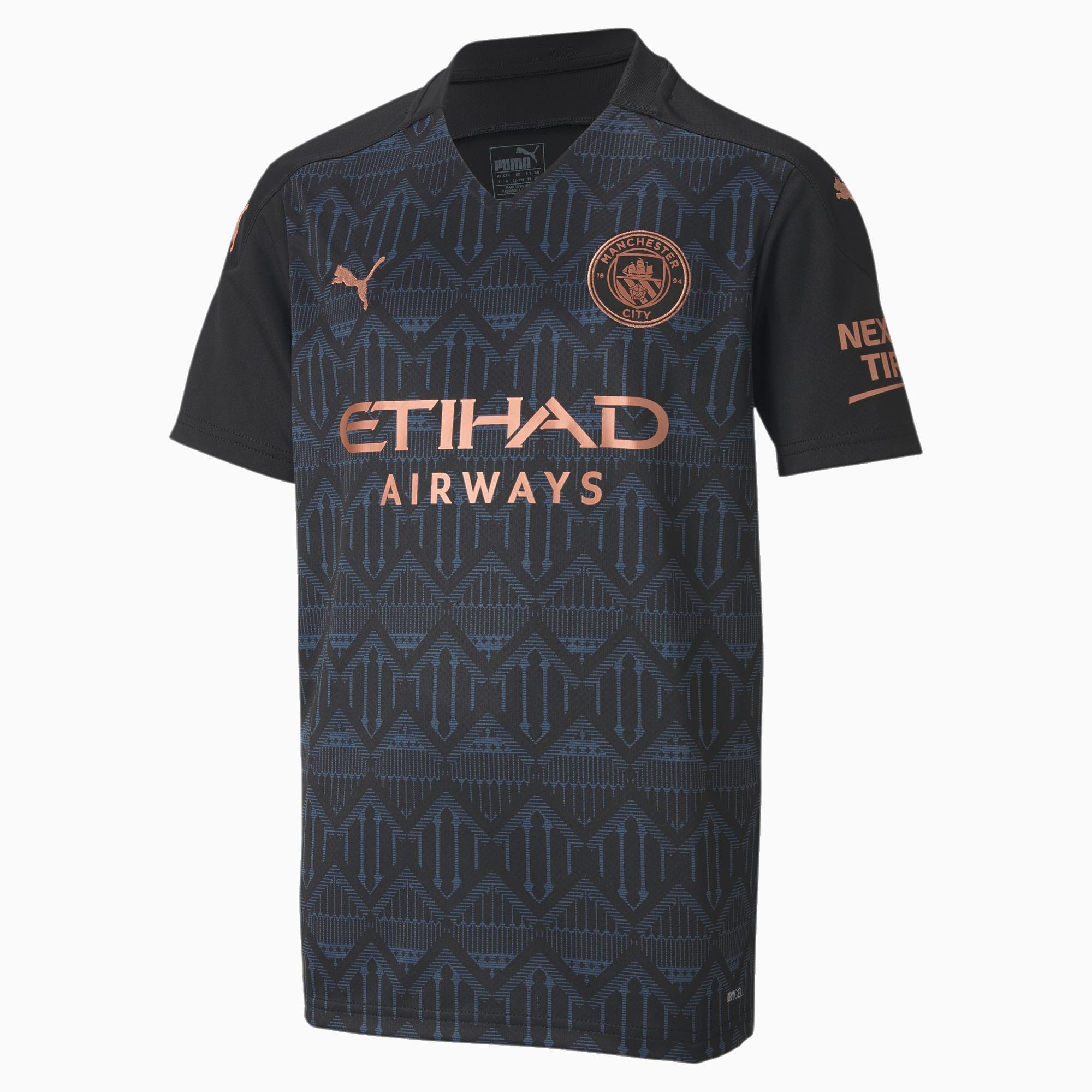 Manchester City Fc Kids Away Replica Jersey Jr 21 22 Puma Black Dark Denim Puma Manchester City Fc Puma